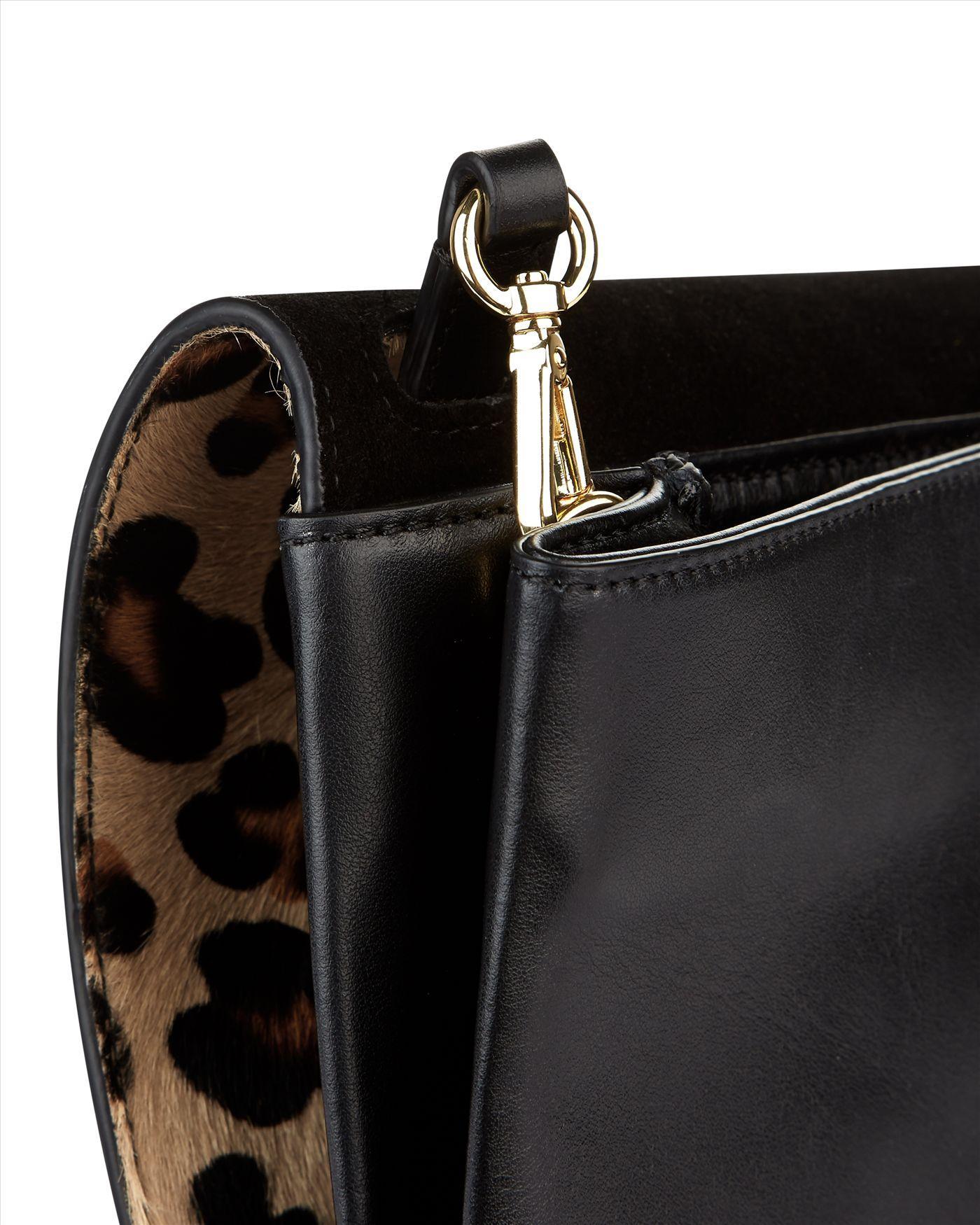 Jaeger Leather Parker Leopard Cross-body Bag