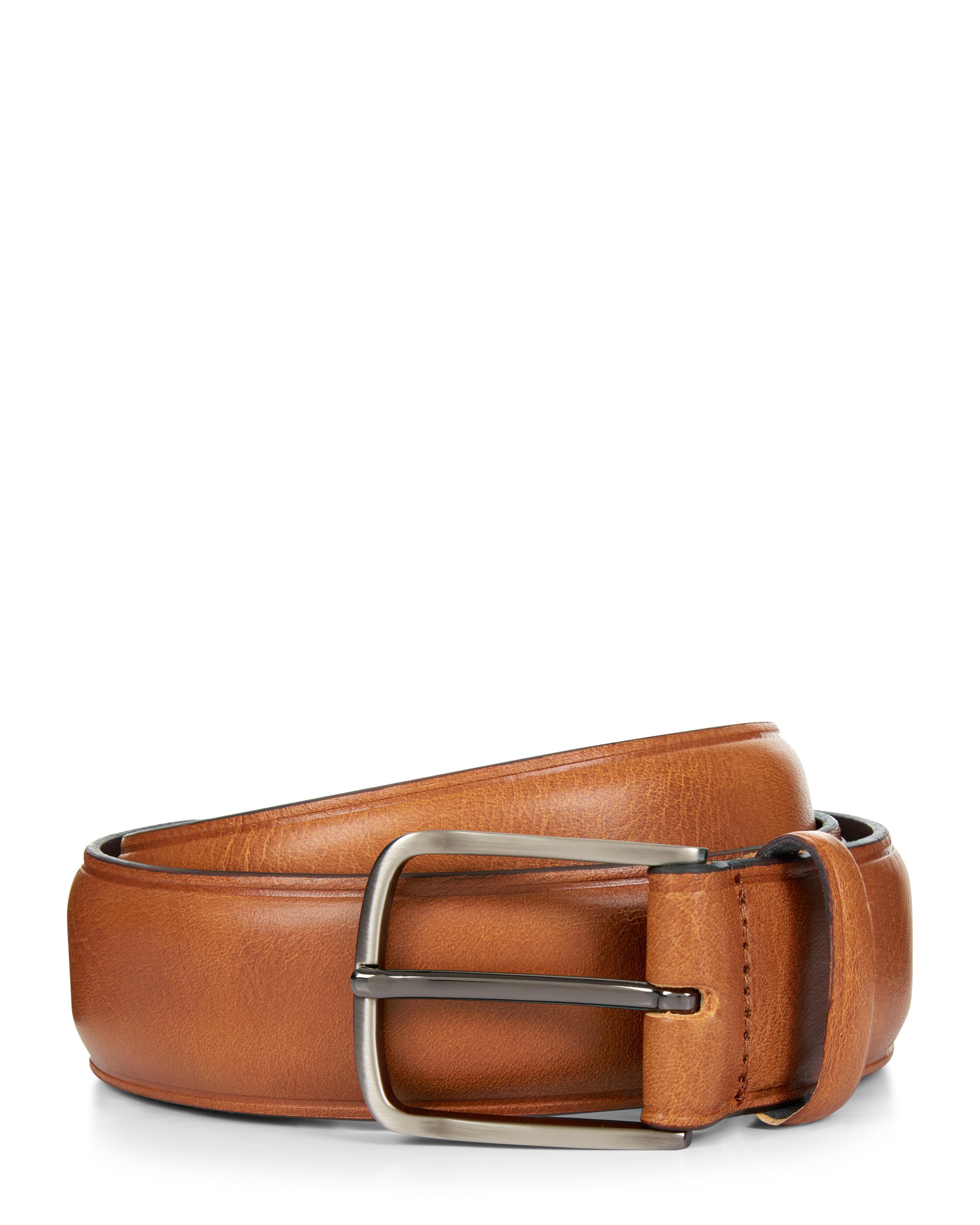 6b57f5d1e07 Jaeger - Brown Casual Tan Pebble Dash Leather Belt for Men - Lyst. View  fullscreen