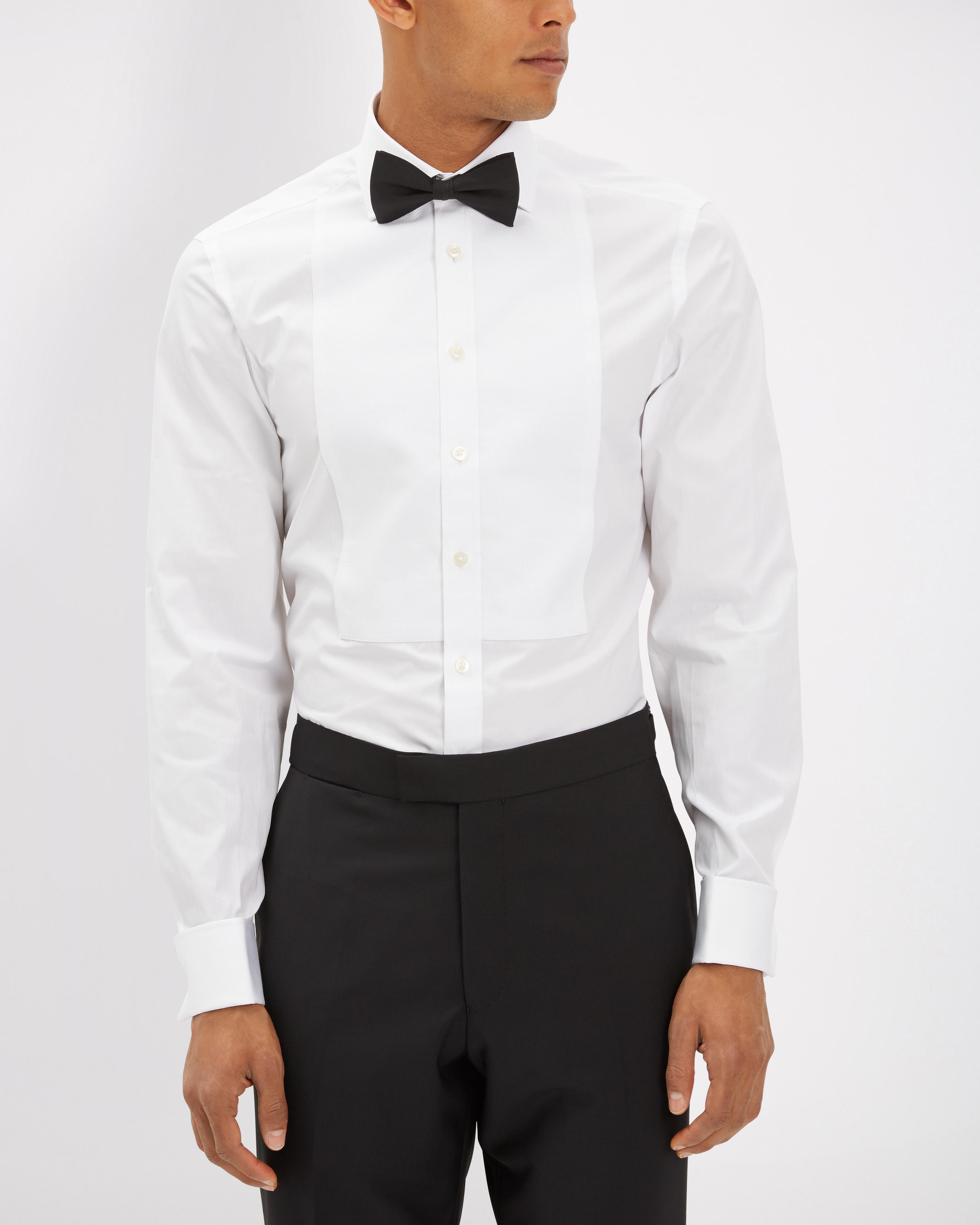 1a187467739 Jaeger Marcella Bib Slim Fit Dress Shirt in White for Men - Lyst