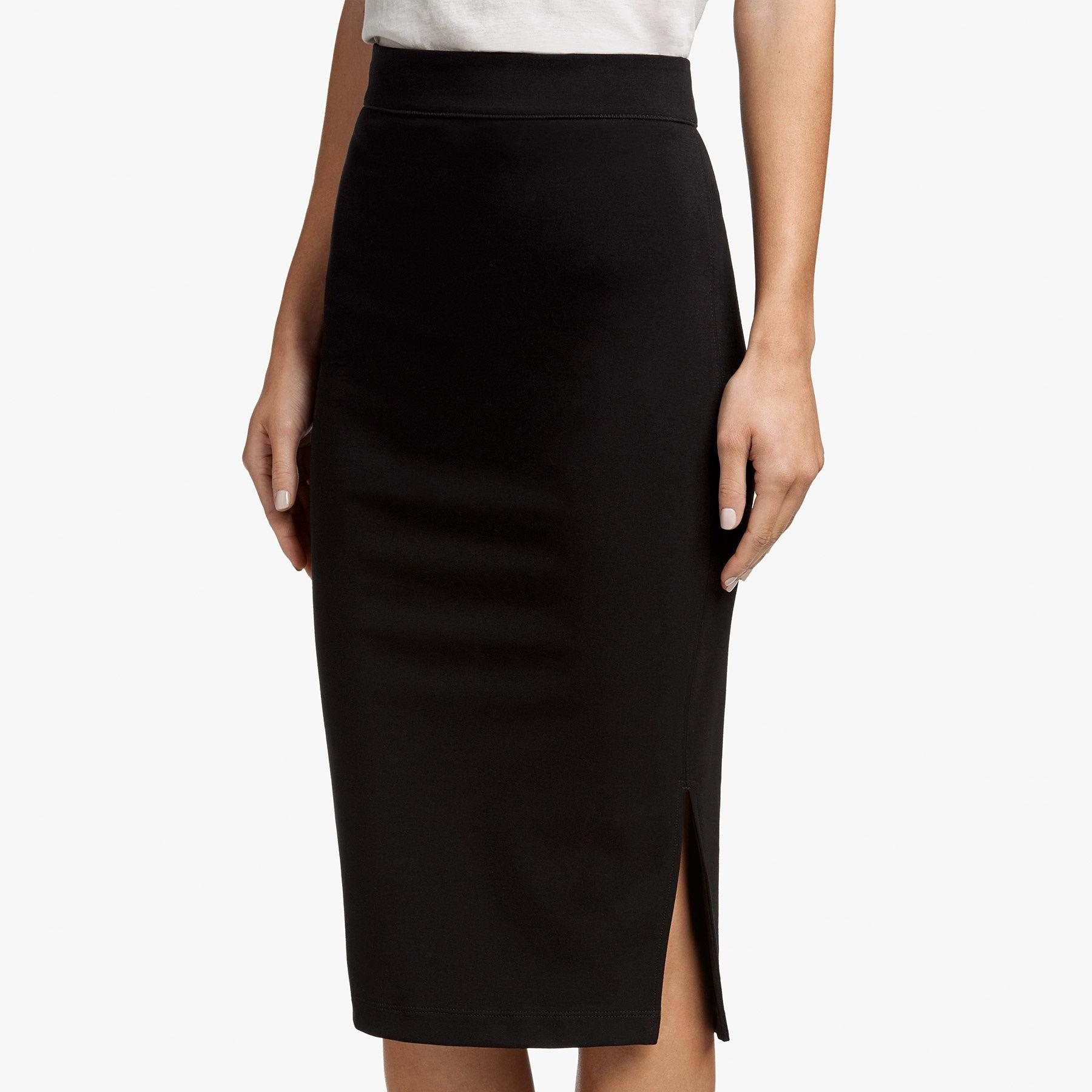 a45257b64c James Perse Side Split Pencil Skirt in Black - Lyst