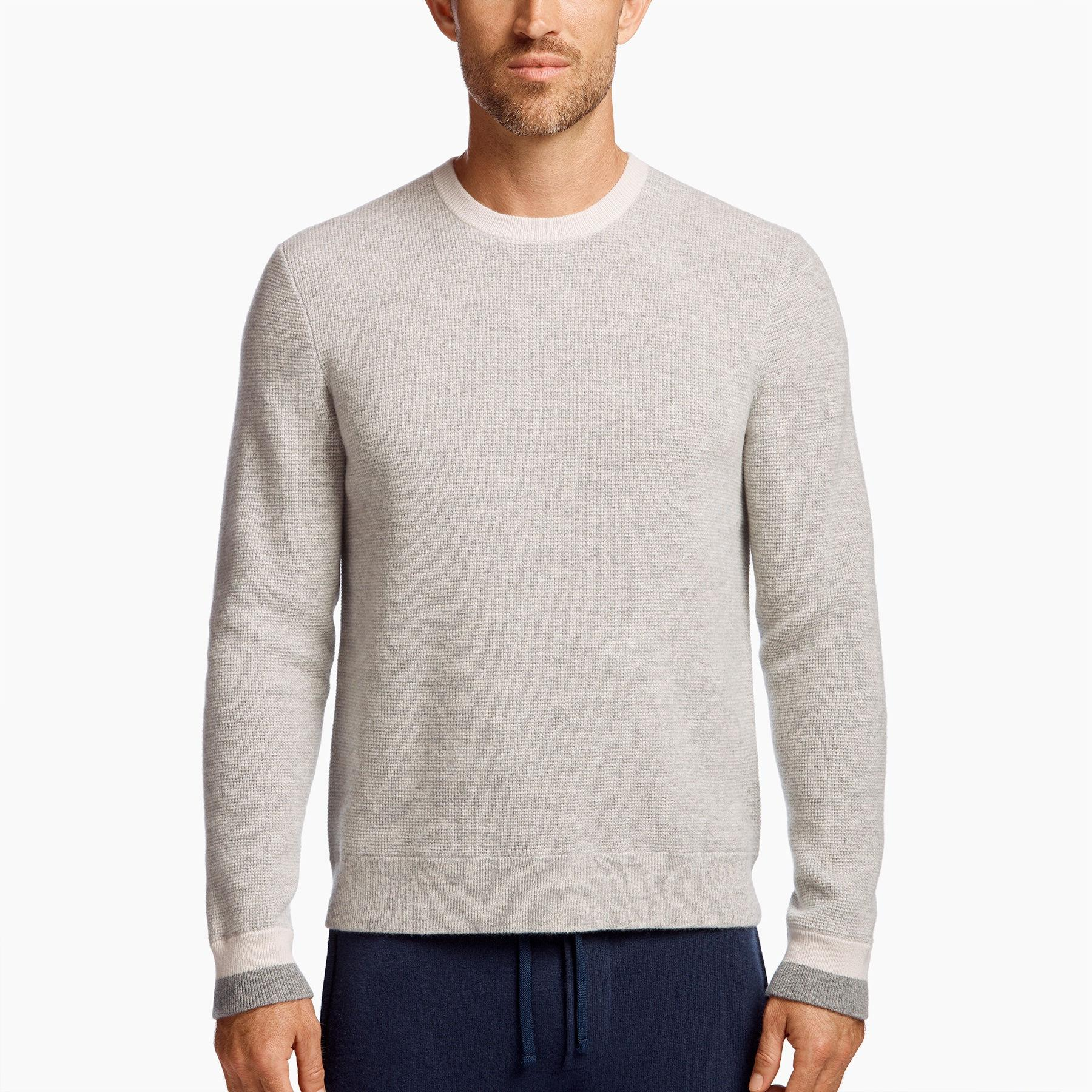 37e06560f James Perse Baby Cashmere Sweater in Gray for Men - Lyst