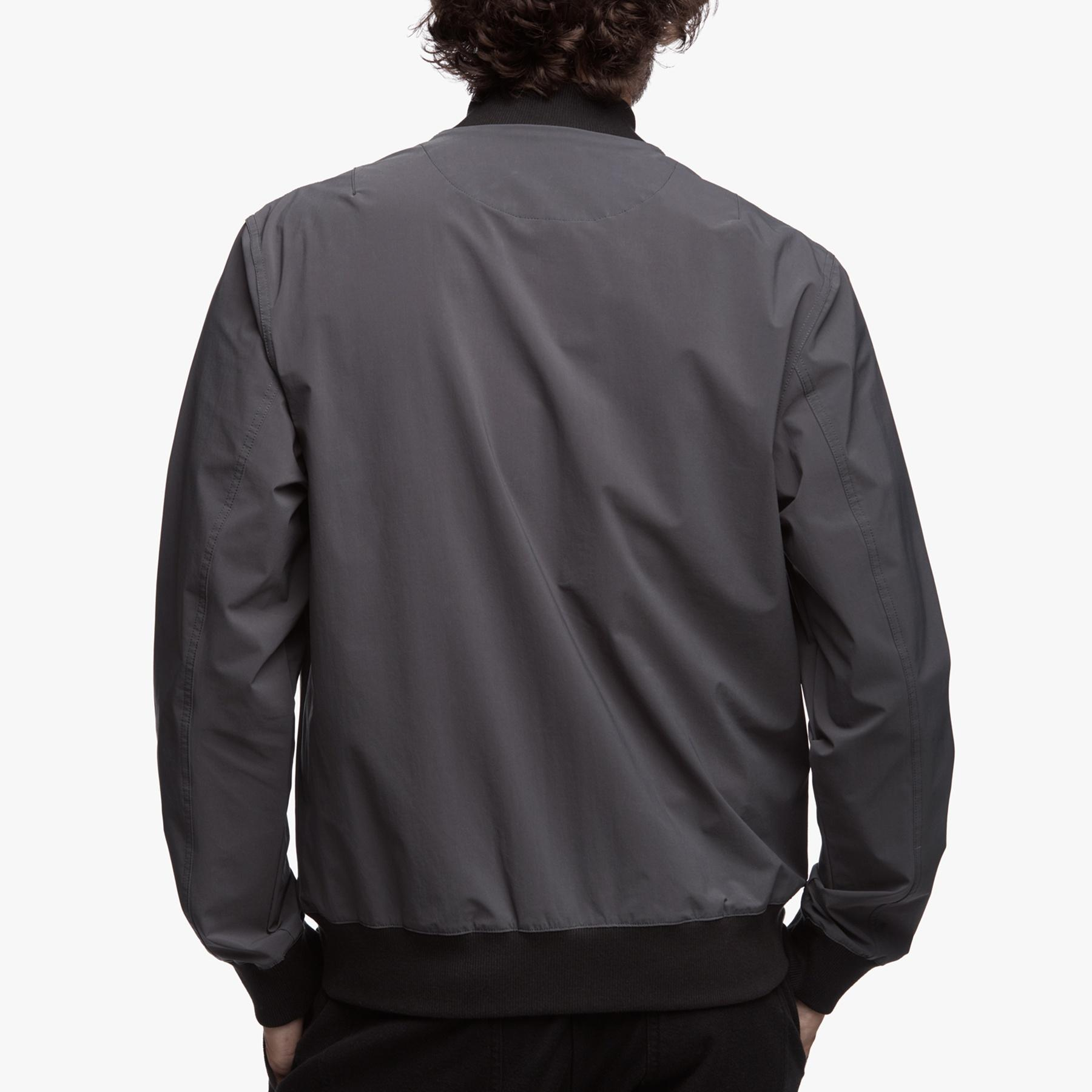 James Perse Cotton Lightweight Bomber Jacket in Slate (Grey) for Men
