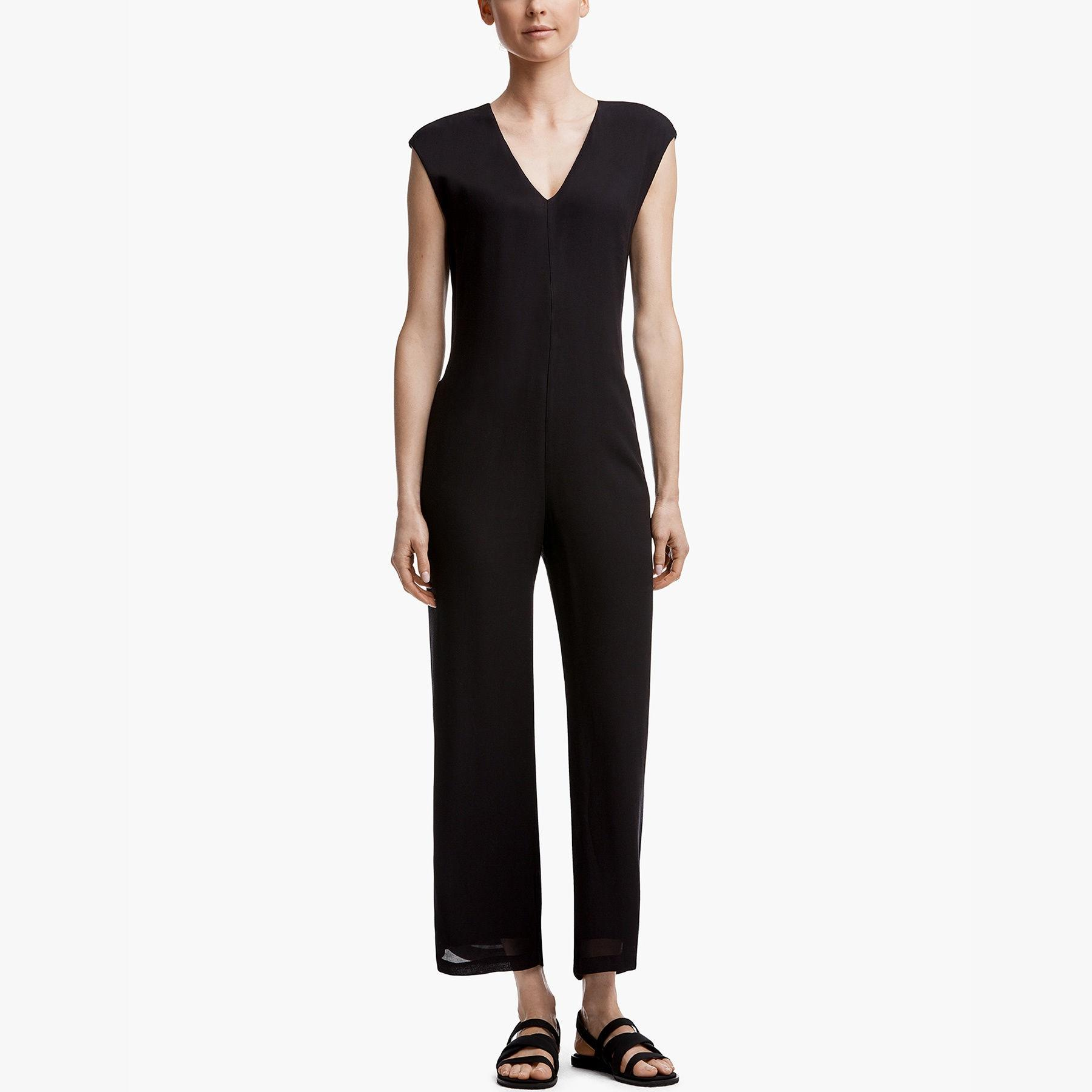 bf2404c003f Lyst - James Perse Soft V-neck Jumpsuit in Black
