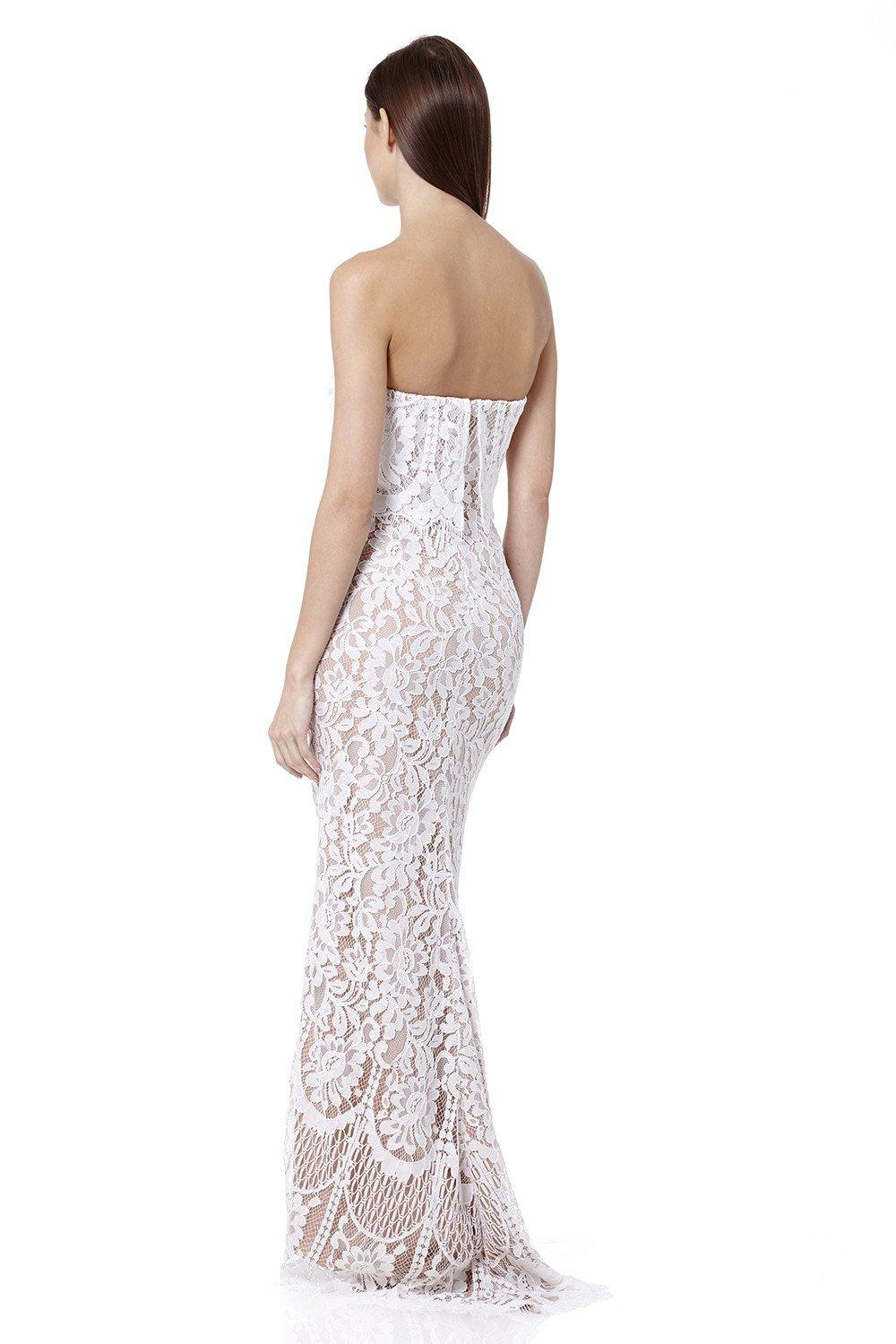 87ae323c0a4a Jarlo - White Adeline All Over Lace Bandeau Maxi Dress - Lyst. View  fullscreen