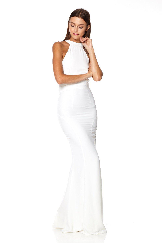 b4e72c6f32 Jarlo - White Caden Halter Neck Maxi Dress - Lyst. View fullscreen