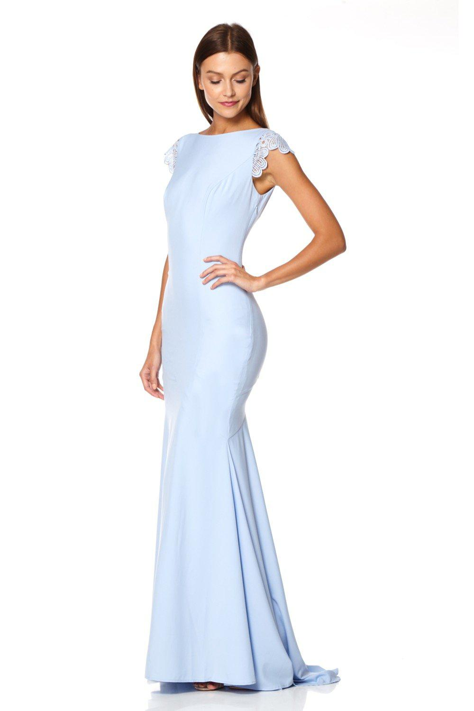 0a016448d66d Jarlo Bridal Bardot Lace Maxi Dress With Fishtail - raveitsafe