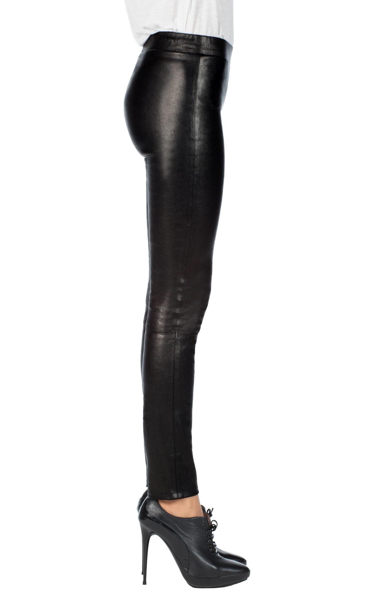 45d3479ed20005 J Brand L8007 Edita Mid-rise Leather Legging in Black - Lyst
