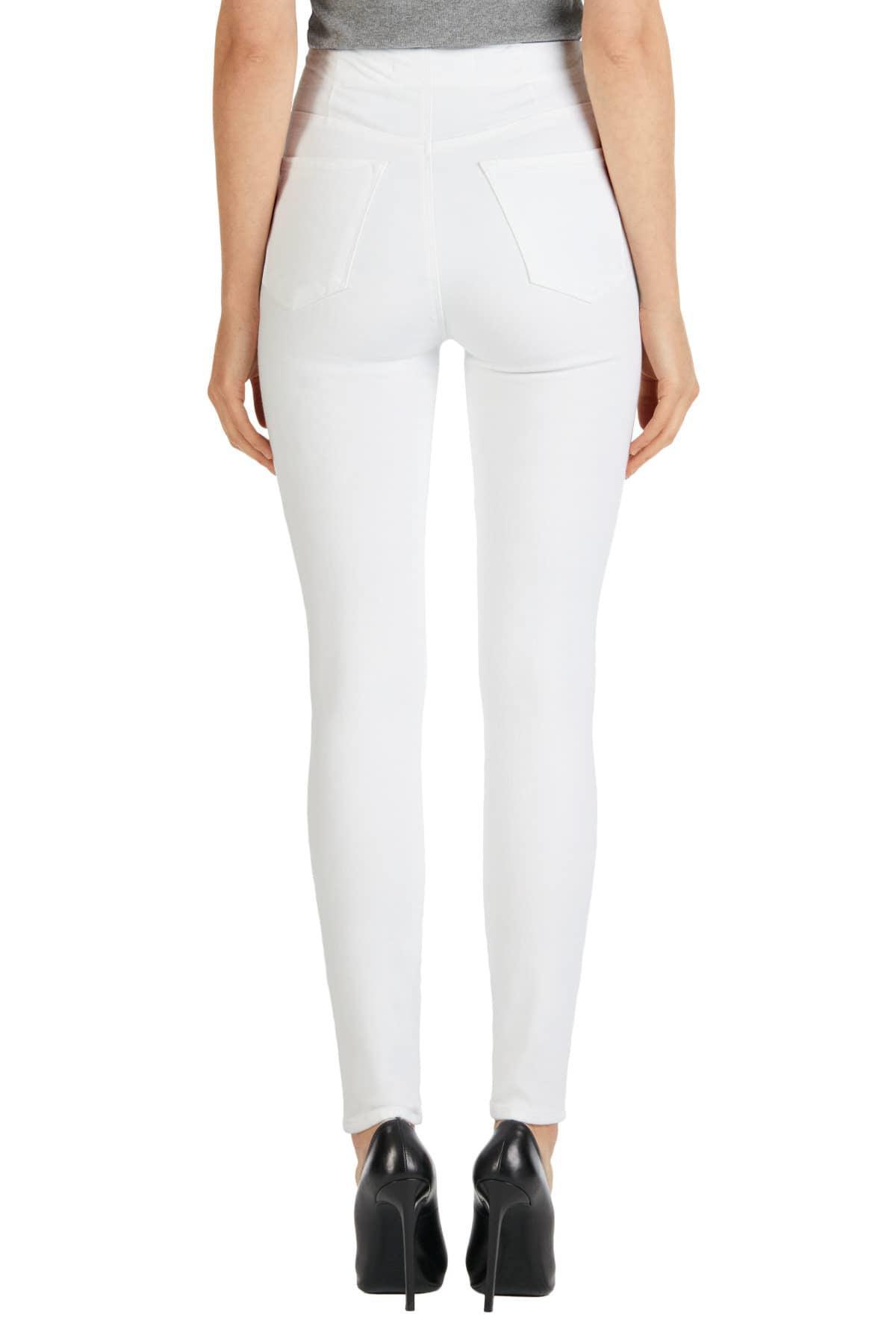 NWT J BRAND Natasha Sky-High Rise Super Skinny in Blanc White Sz 25 27 30 $248