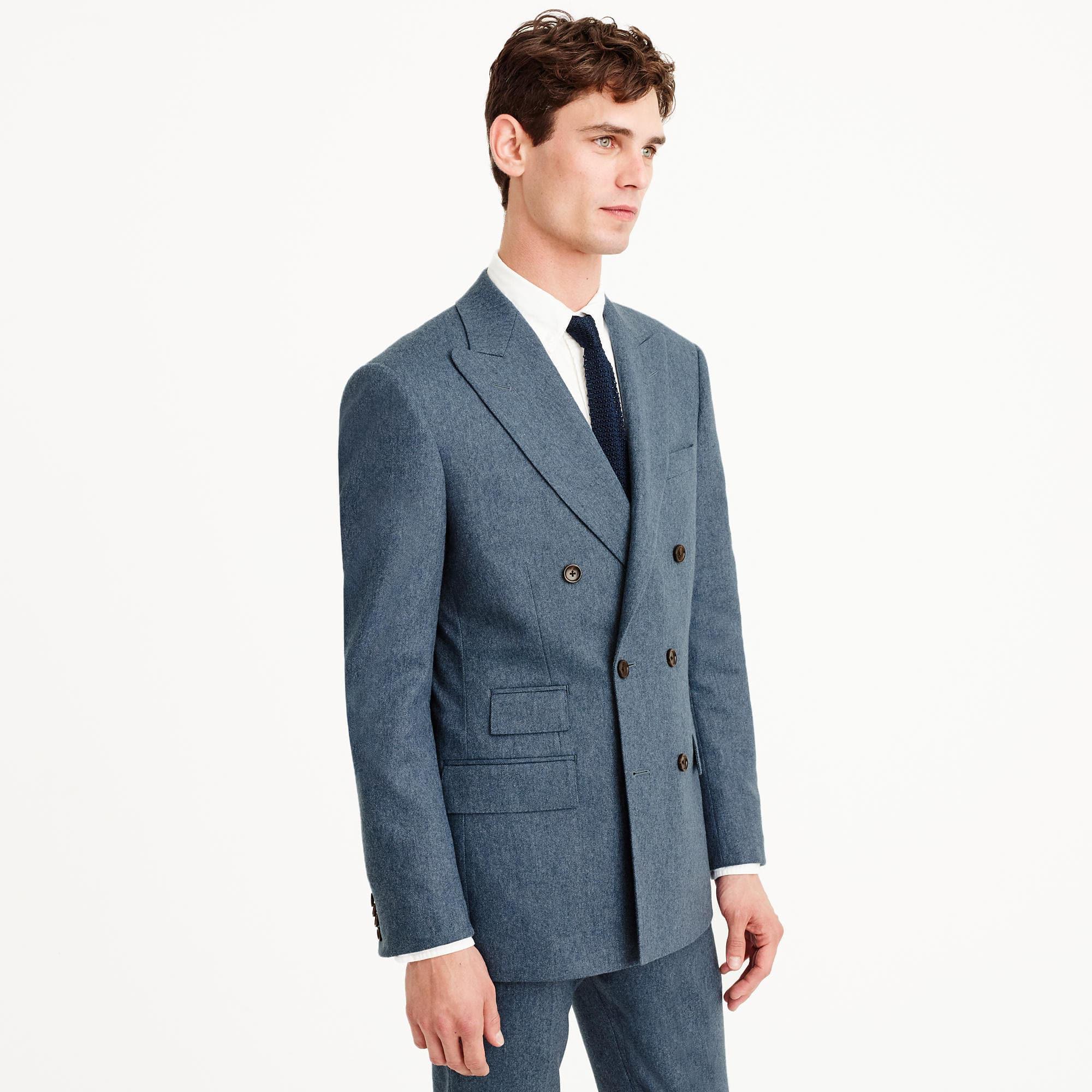 J.Crew Wool Paul Feig Peak-lapel Suit Jacket in Blue for Men