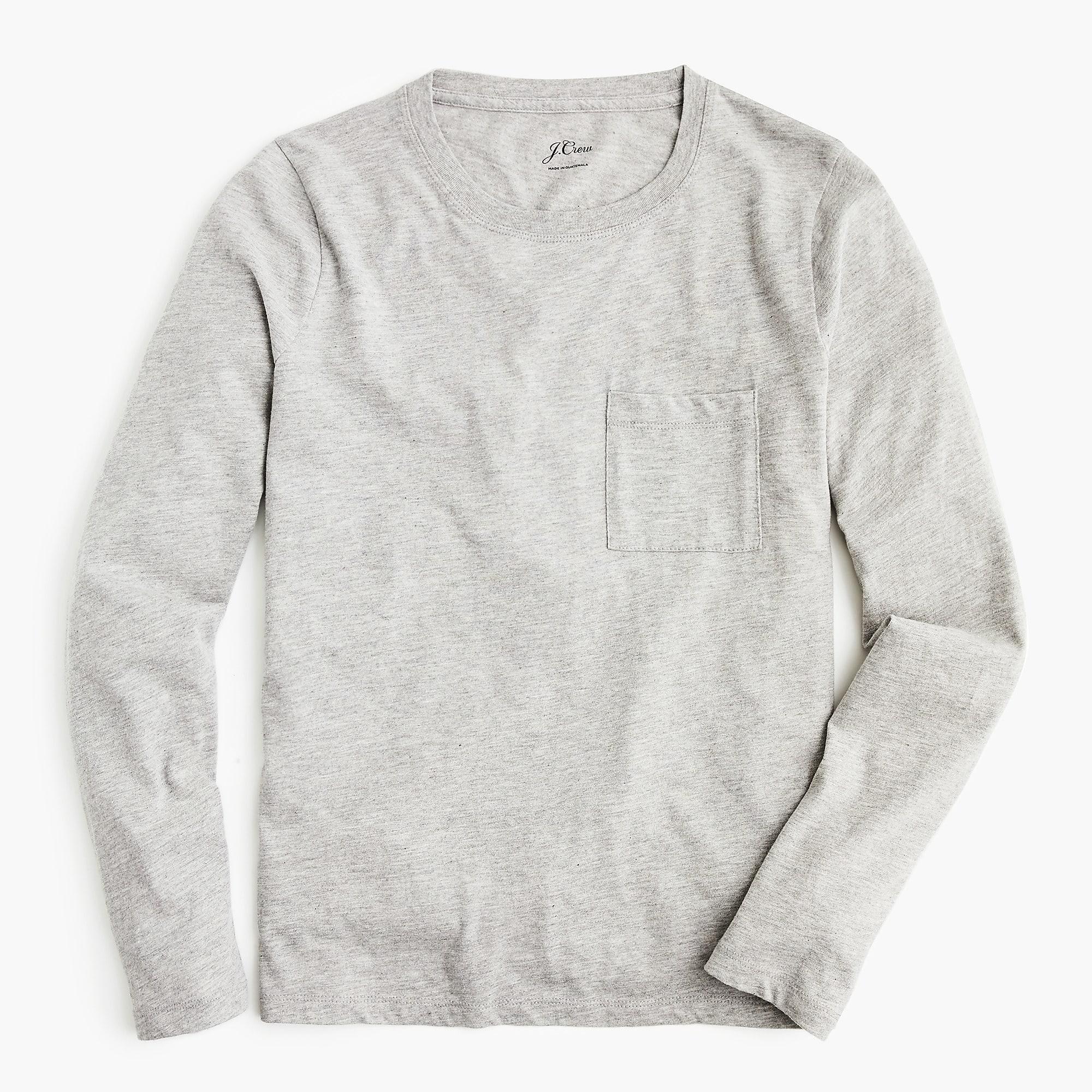 3bfcc909e644 Lyst - J.Crew Broken-in Long-sleeve Pocket T-shirt in Gray