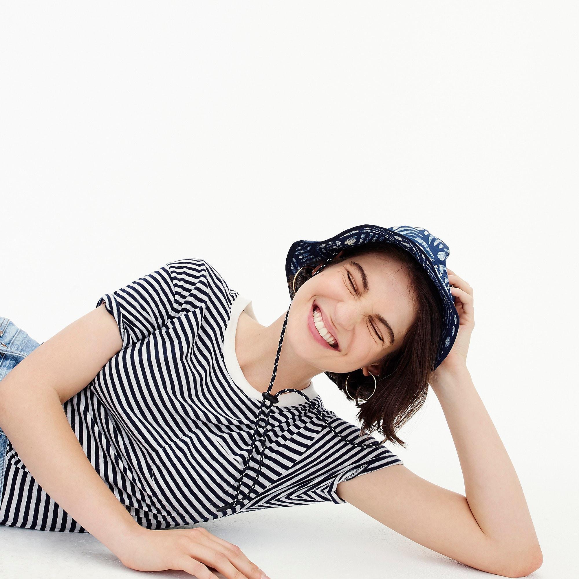 Lyst - J.Crew Pocket T-shirt Bodysuit In Stripe in Blue 9087bfd81