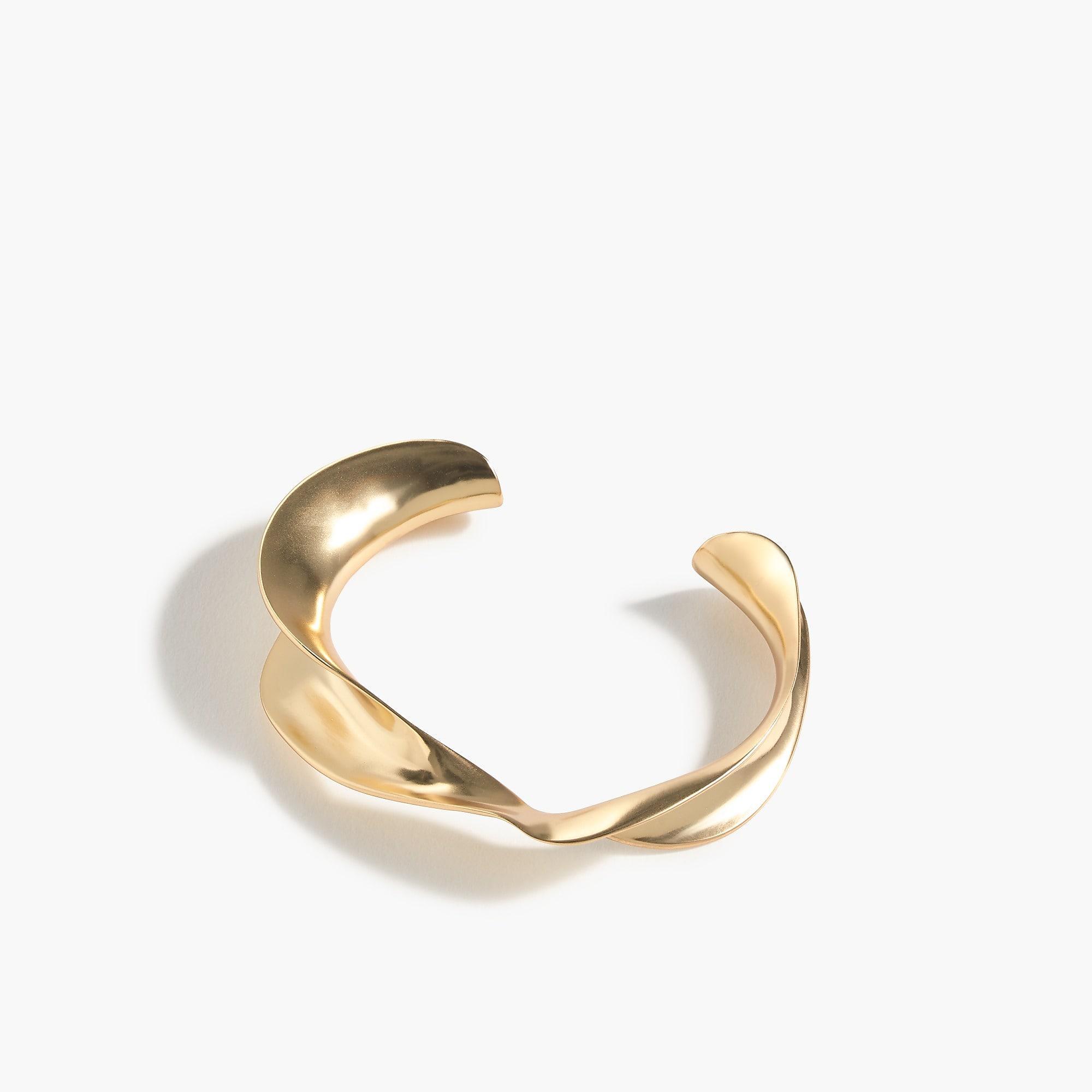 Women S Metallic Metal Twist Cuff Bracelet