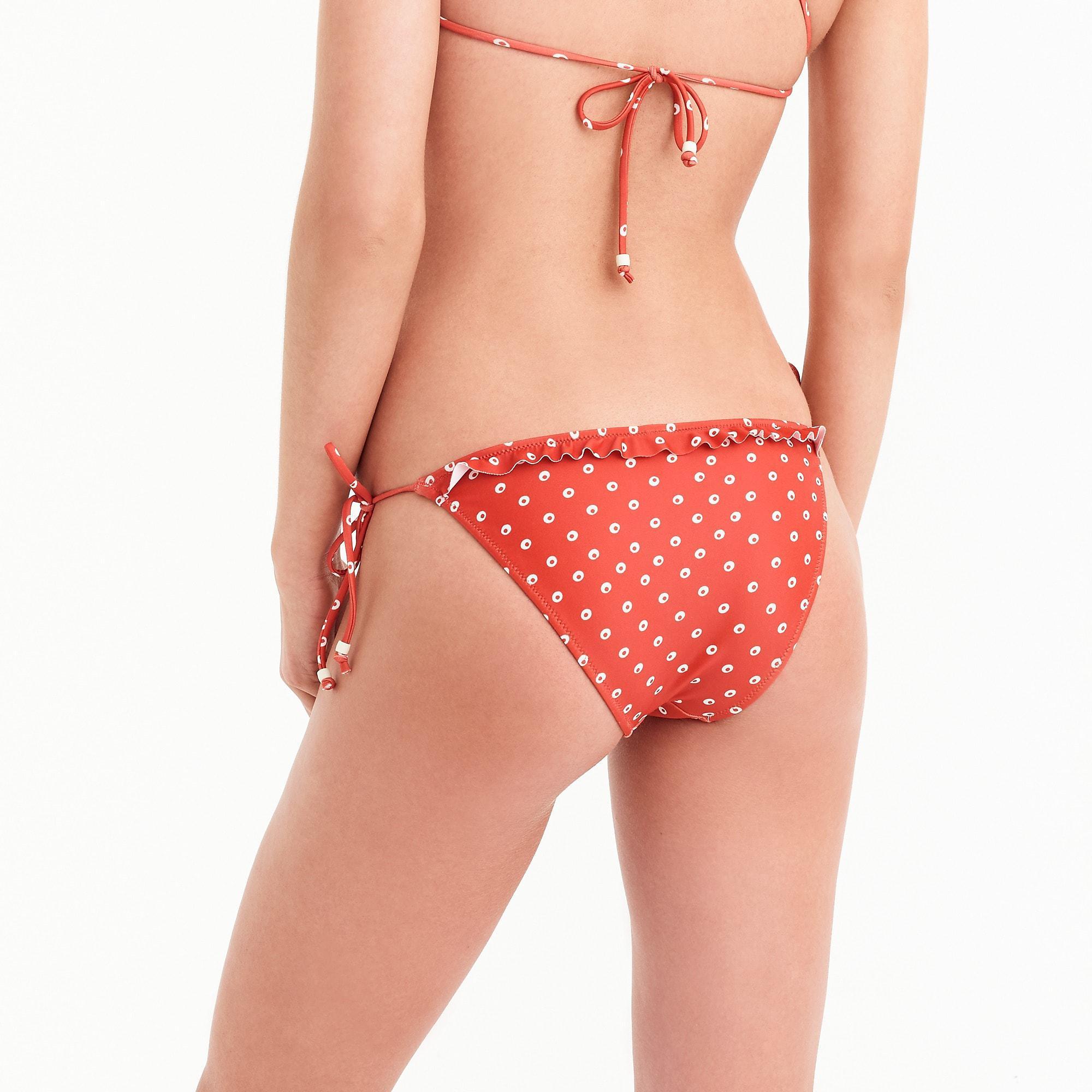 0233ea13e2 Lyst - J.Crew Playa Printed Maui Ruffle Bikini Bottom