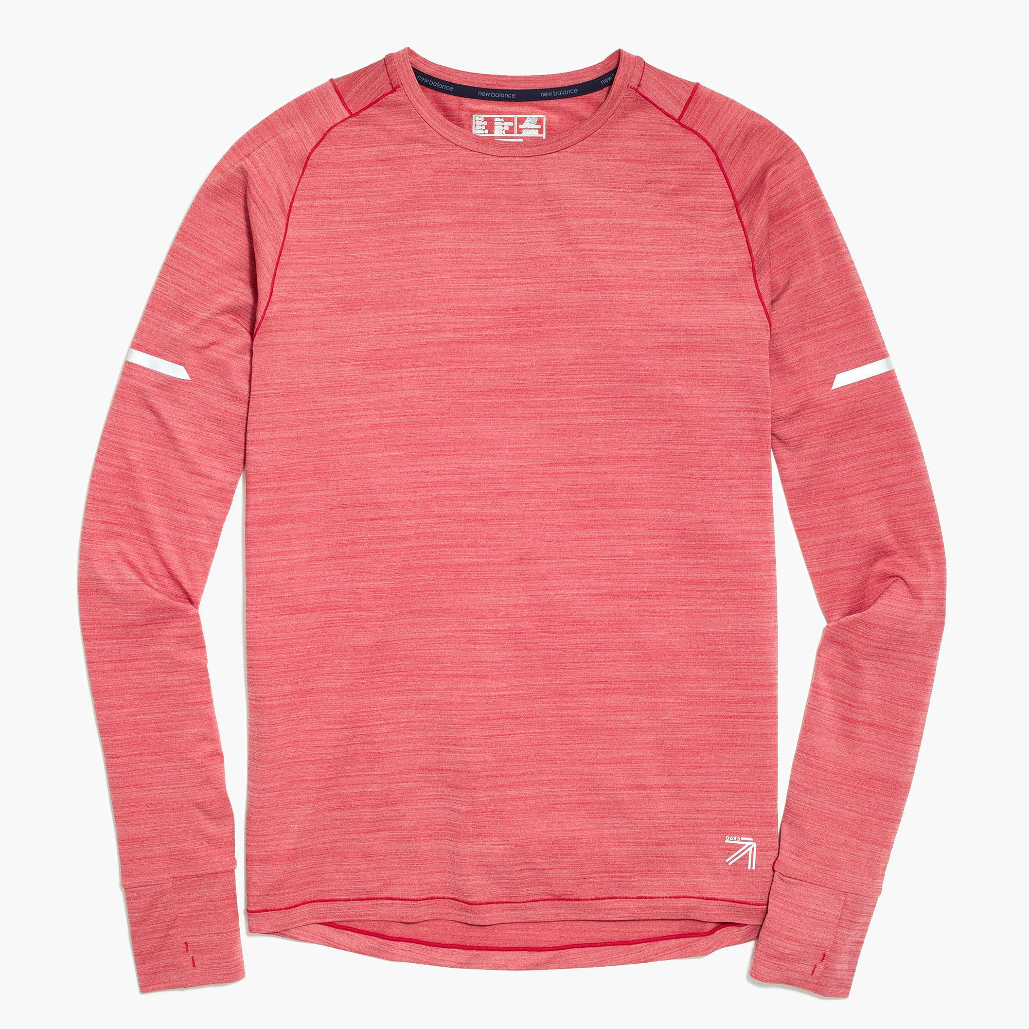 New Balance Long Sleeve Workout T Shirt In Red For