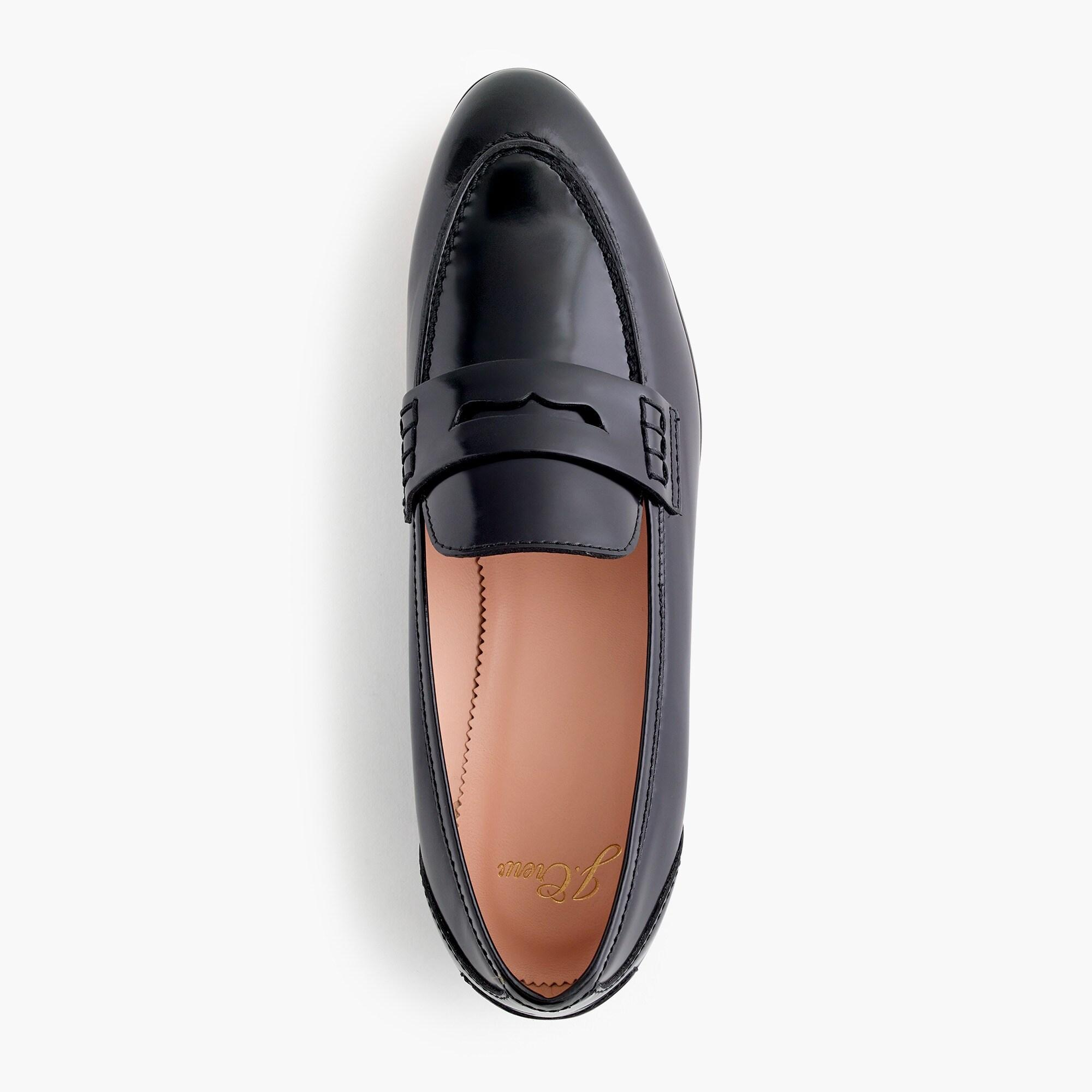 J.Crew Leather Academy Penny Loafers in Brown - Lyst