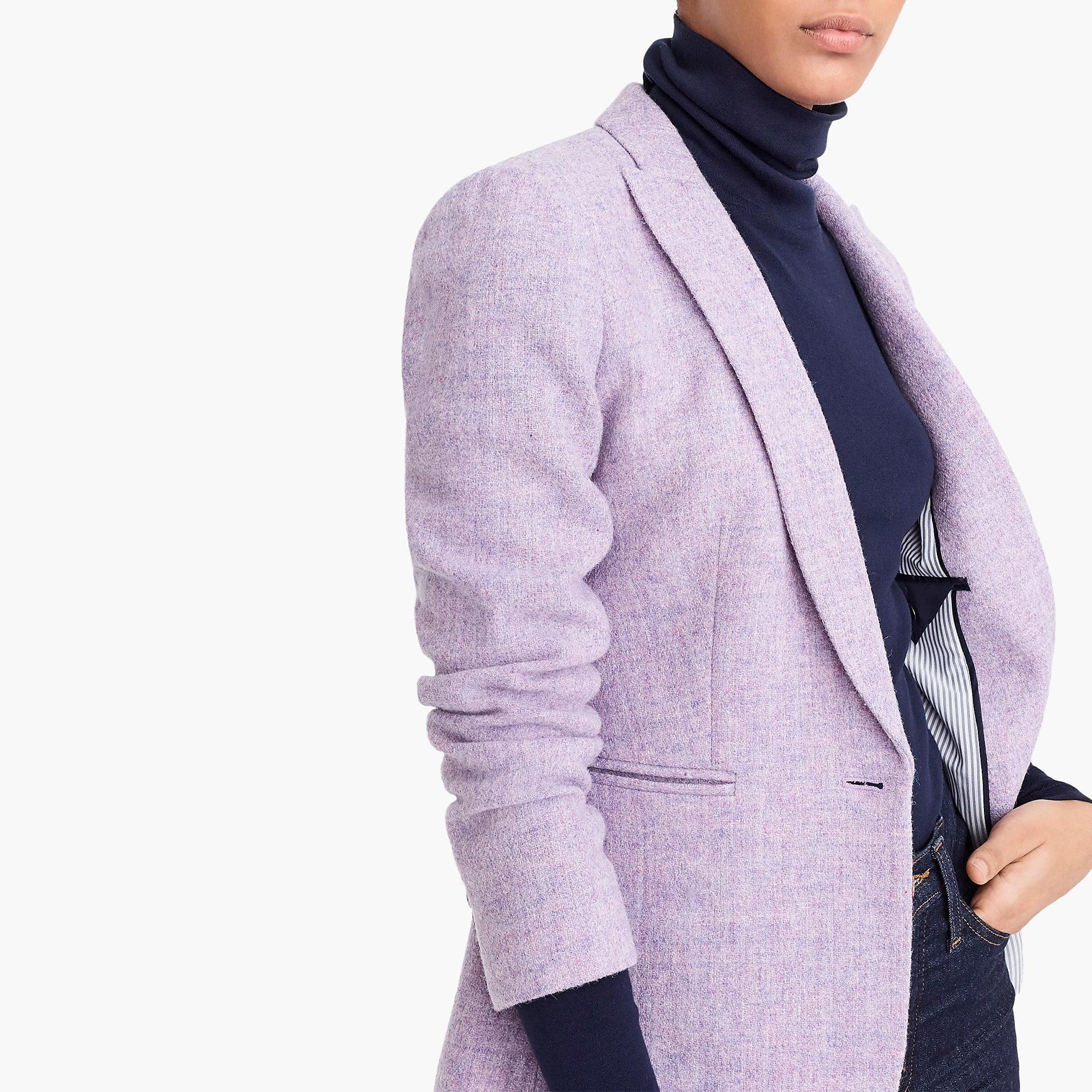 NWT J CREW Women Parke Herringbone Lavender Wool Blazer Jacket P8 Purple  K3074