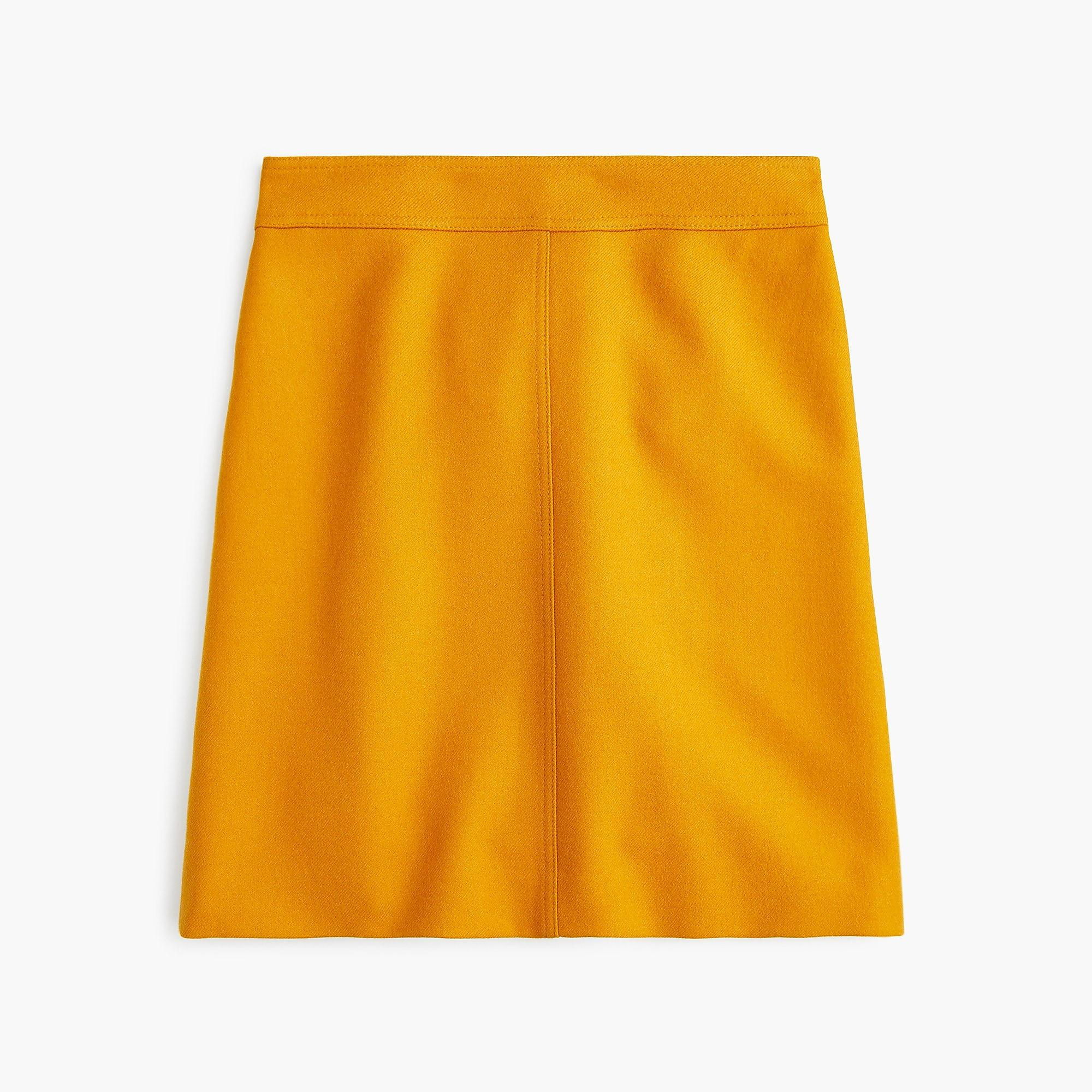 93d47a52e0d Lyst - J.Crew Princess Mini Skirt In Double-serge Wool in Yellow