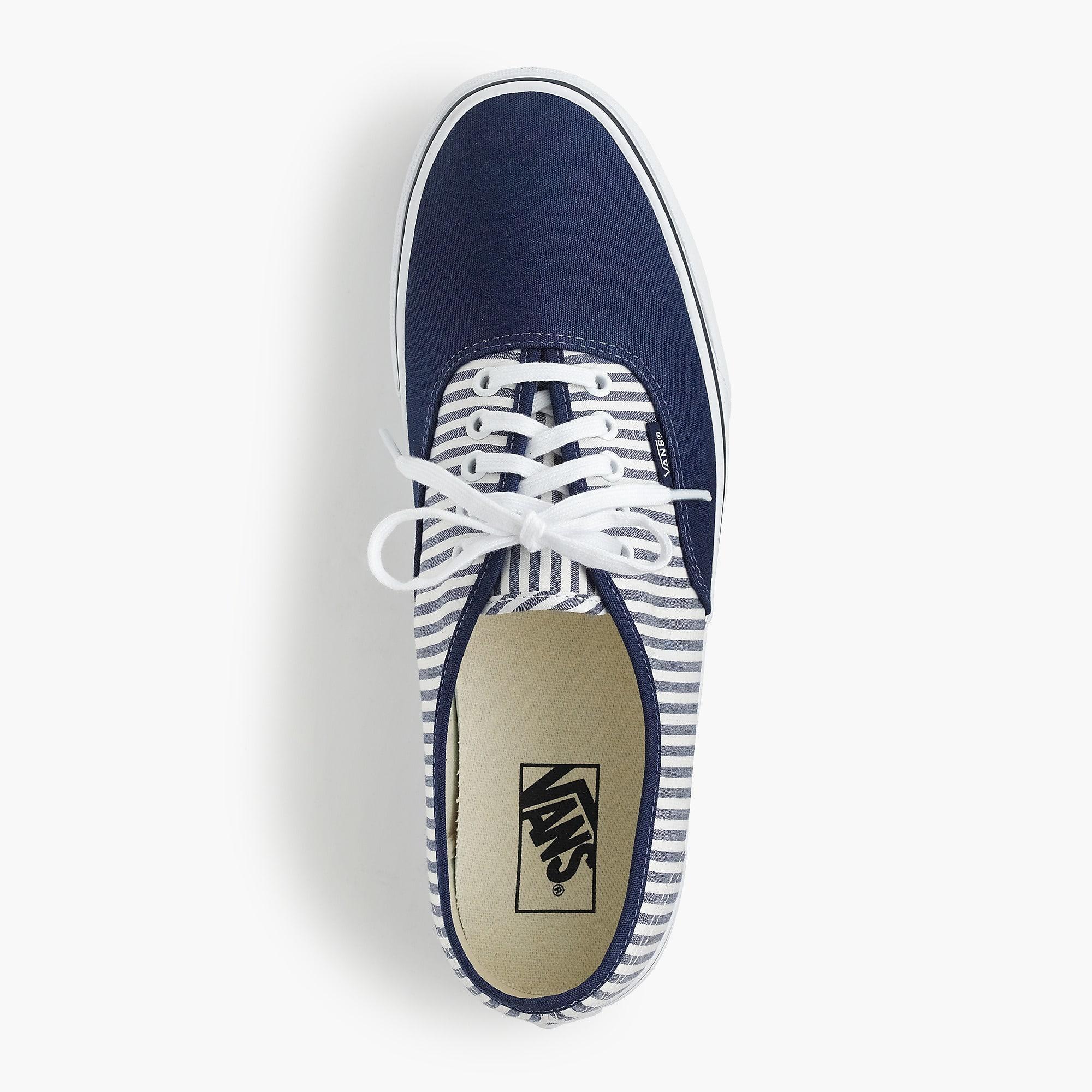 1ce0331797d Vans Authentic Sneakers In Seersucker Stripe in Blue for Men - Lyst