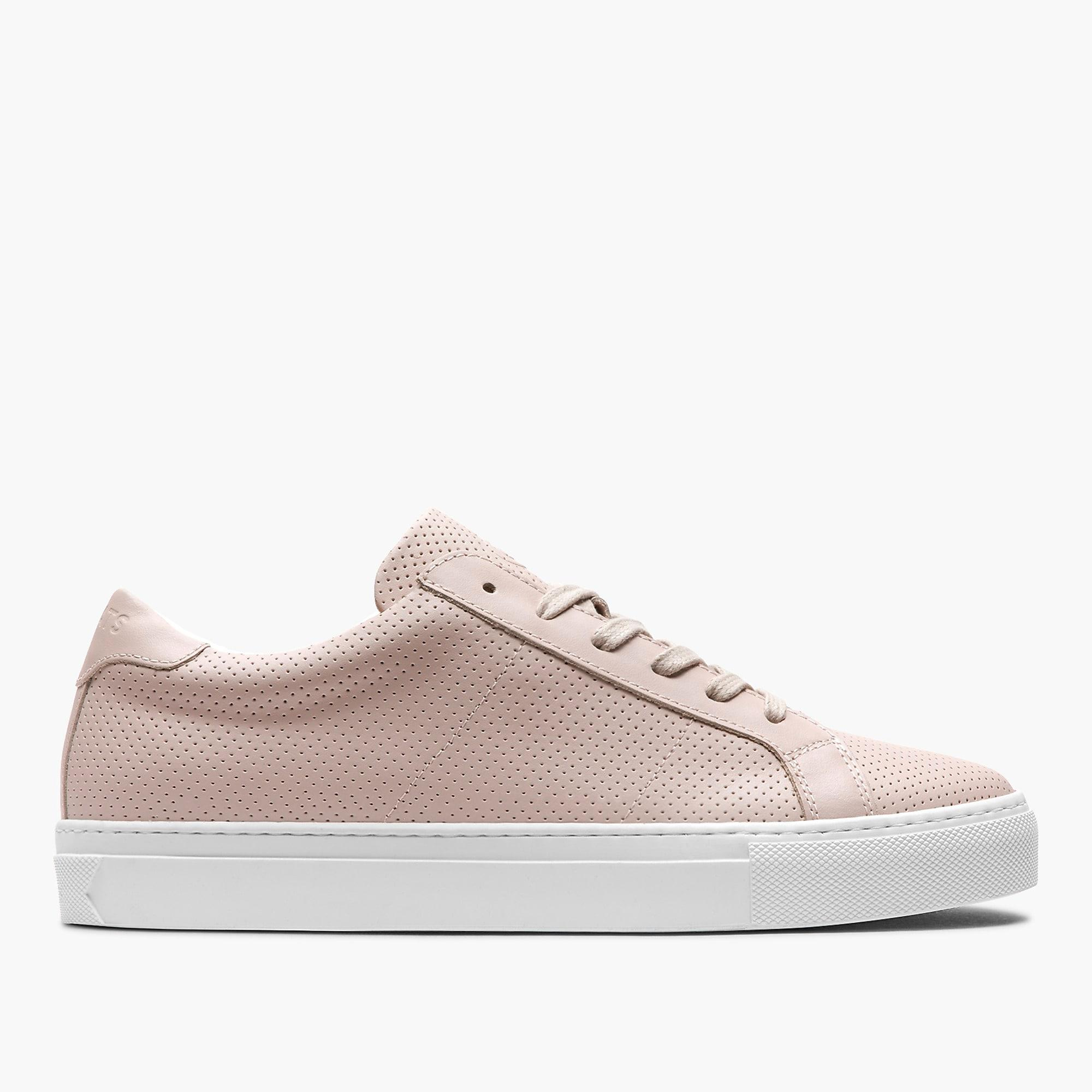 GREATS Leather Royale Perforated Sneakers in Pink