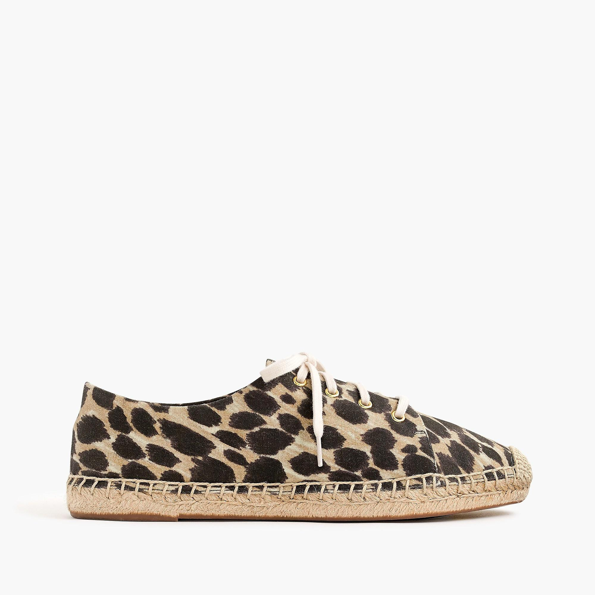 J.Crew Canvas Lace-up Espadrilles In