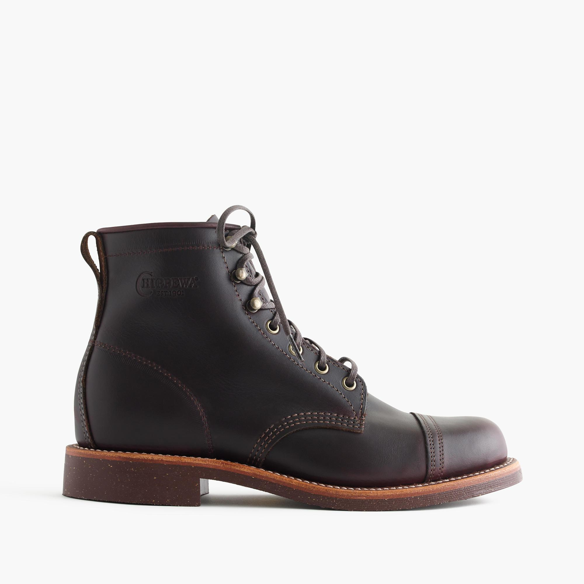 lyst j crew original chippewa cap toe boots in brown for men. Black Bedroom Furniture Sets. Home Design Ideas