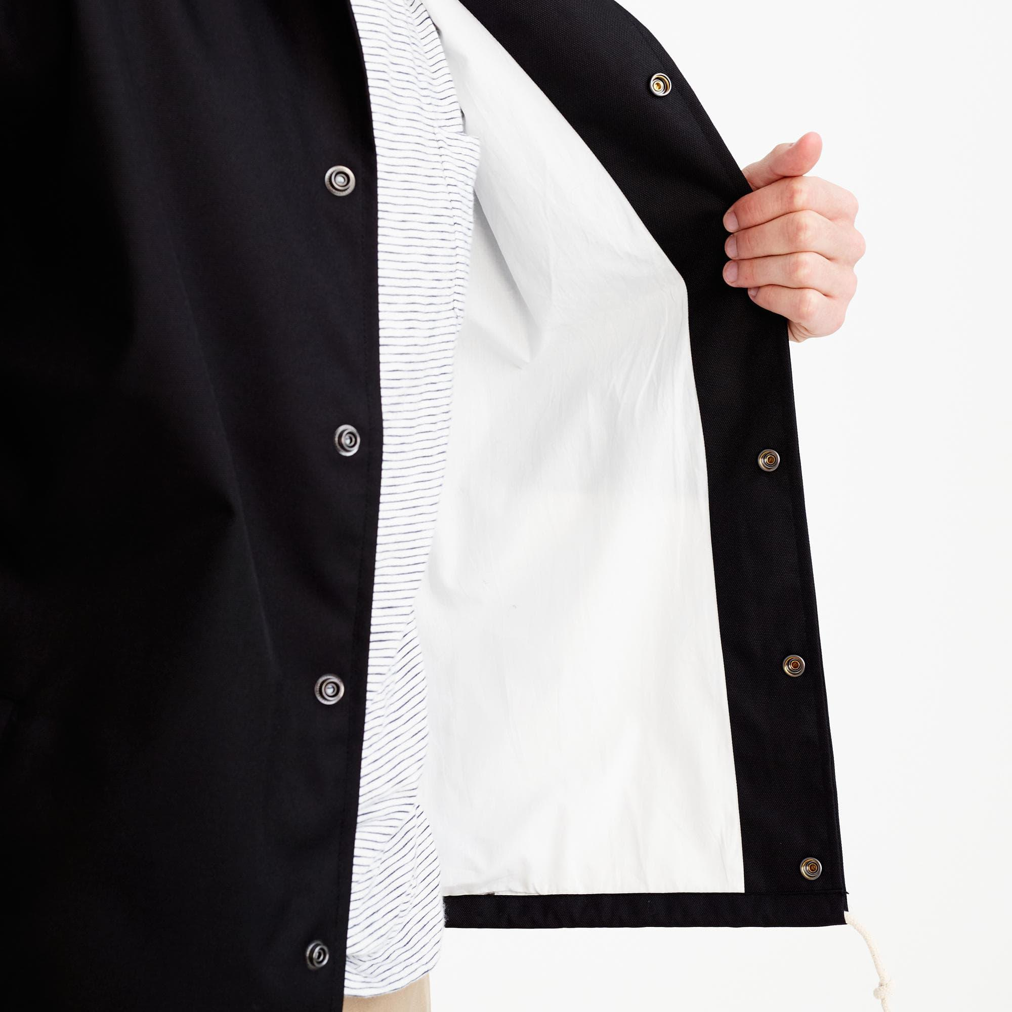 J.Crew Canvas Carhartt Work In Progress Coach's Jacket In Black for Men