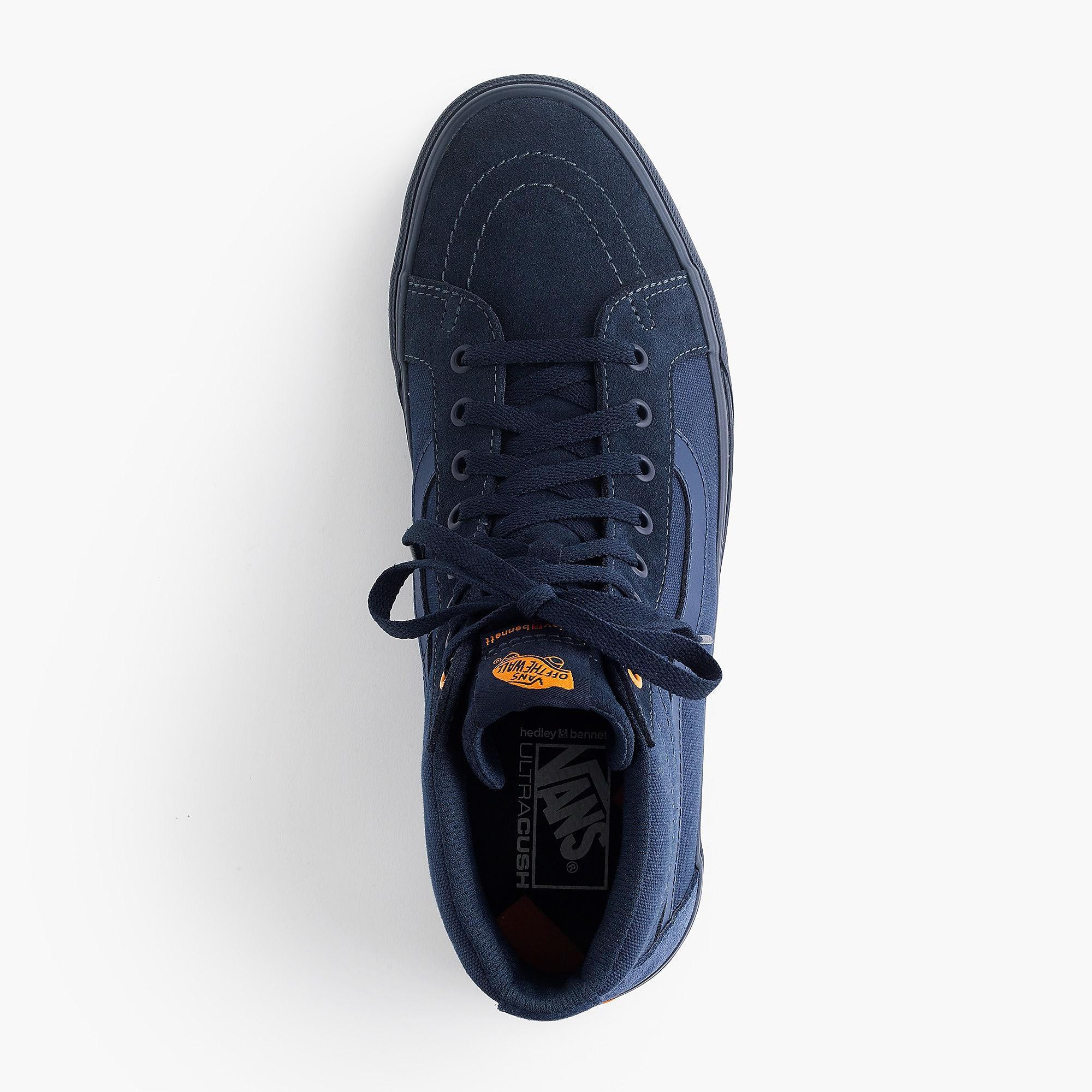 cdbab99f13f583 Vans. Men s Blue X Hedley   Bennett Sk8 Hi Sneakers.  90 From J.Crew