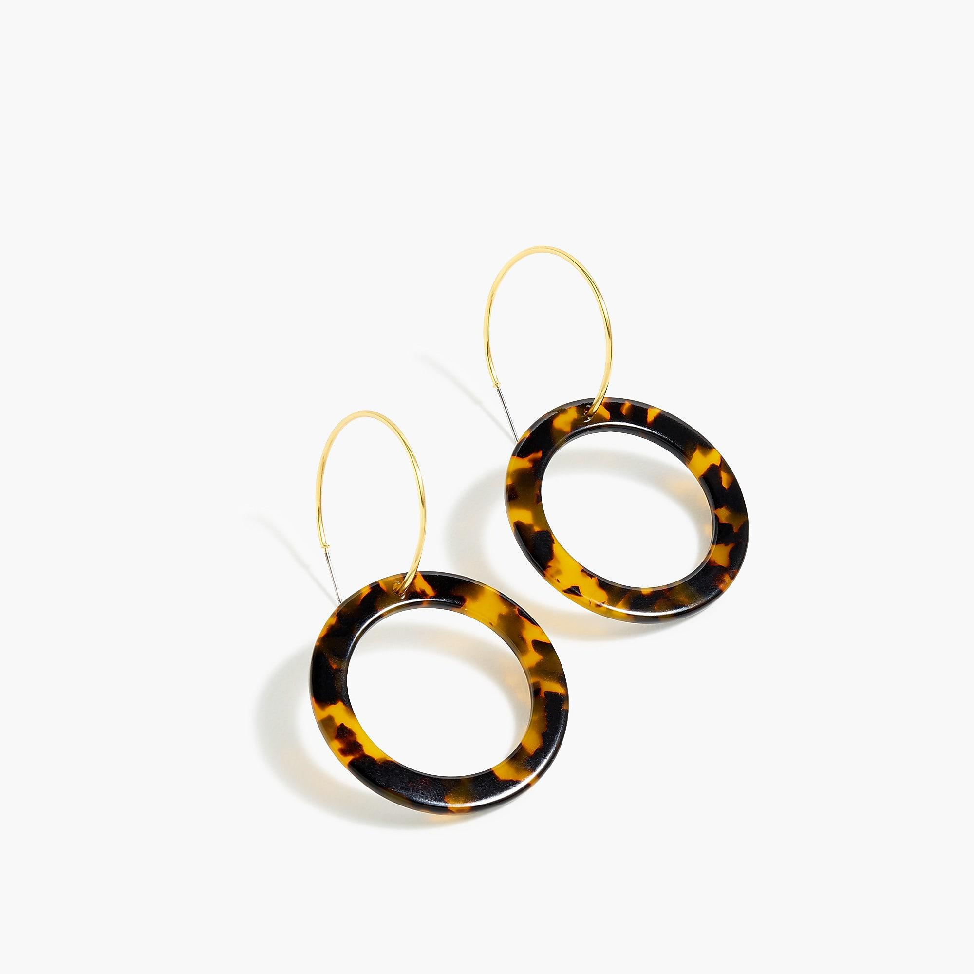 shell co ashley summer brown jewelery hoop shop minimalist singapore earrings jewellery tortoise dangle