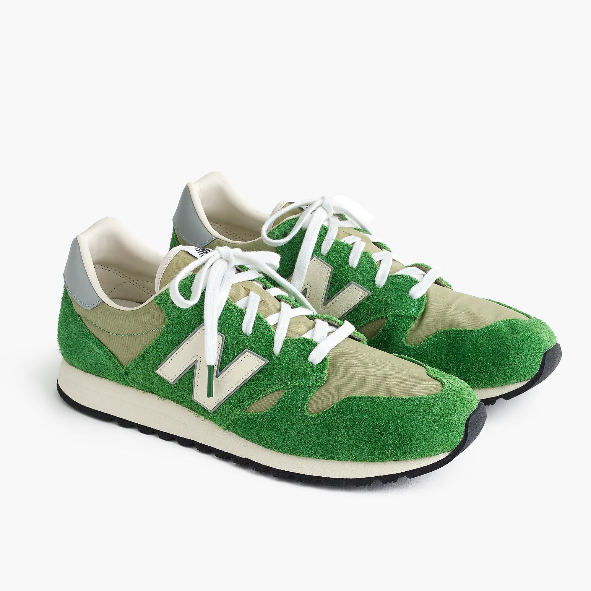 new balance green suede