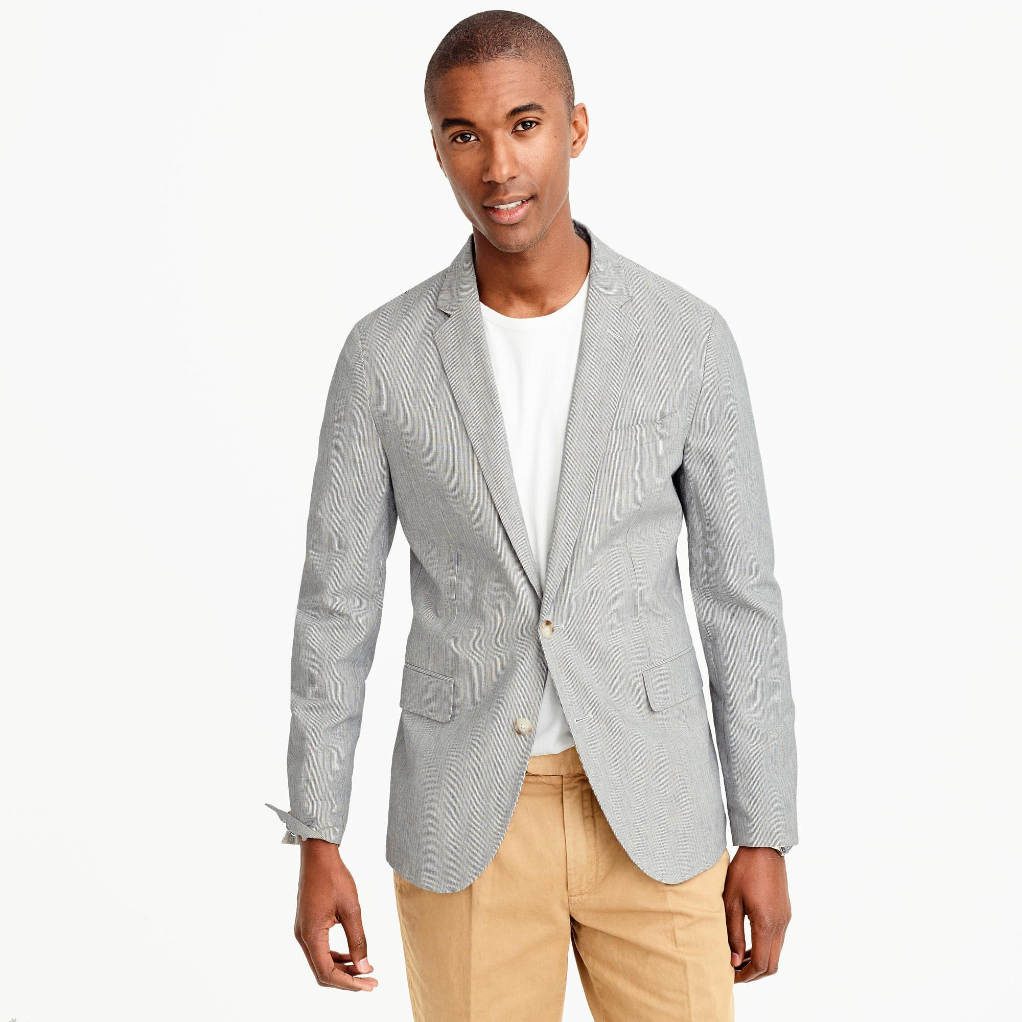 a260ebb58 J.Crew Gray Unstructured Ludlow Blazer In Cotton-linen for men