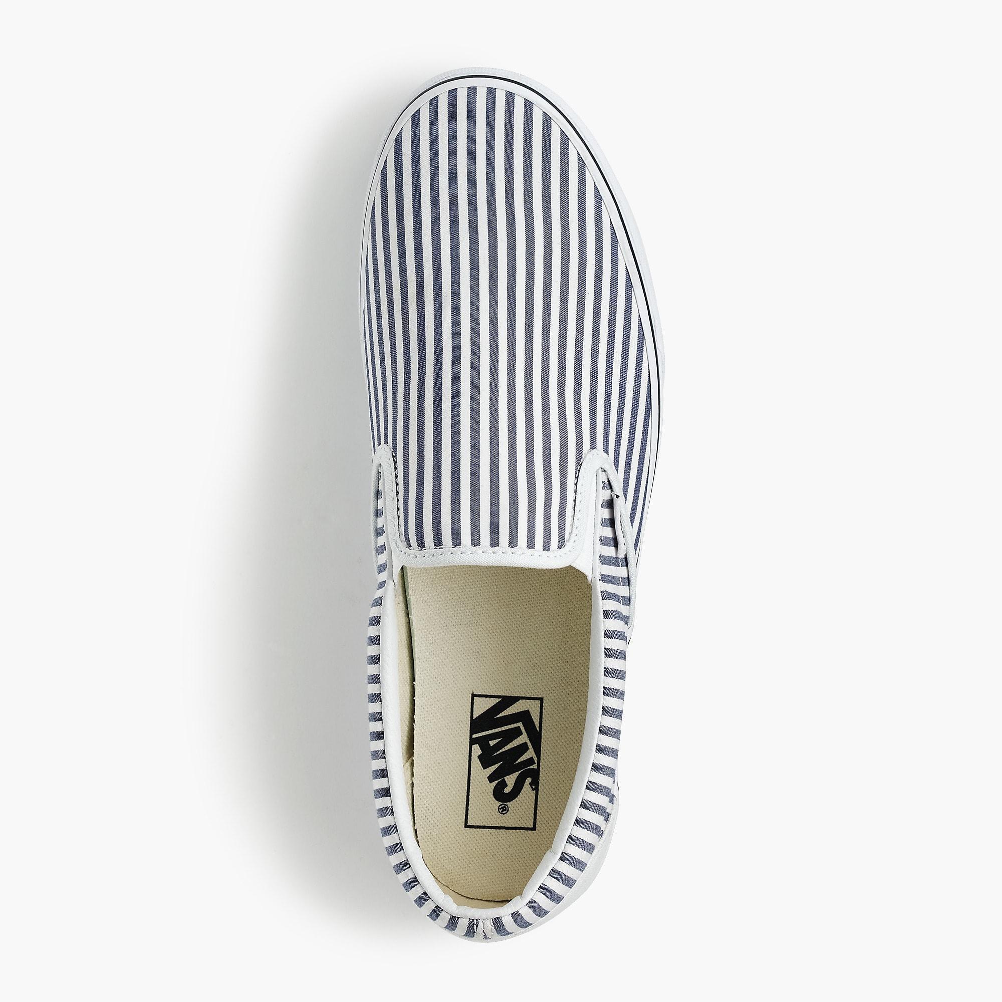 e2445dc2b0 Lyst - Vans Slip-on Sneakers In Seersucker Stripe in Blue for Men