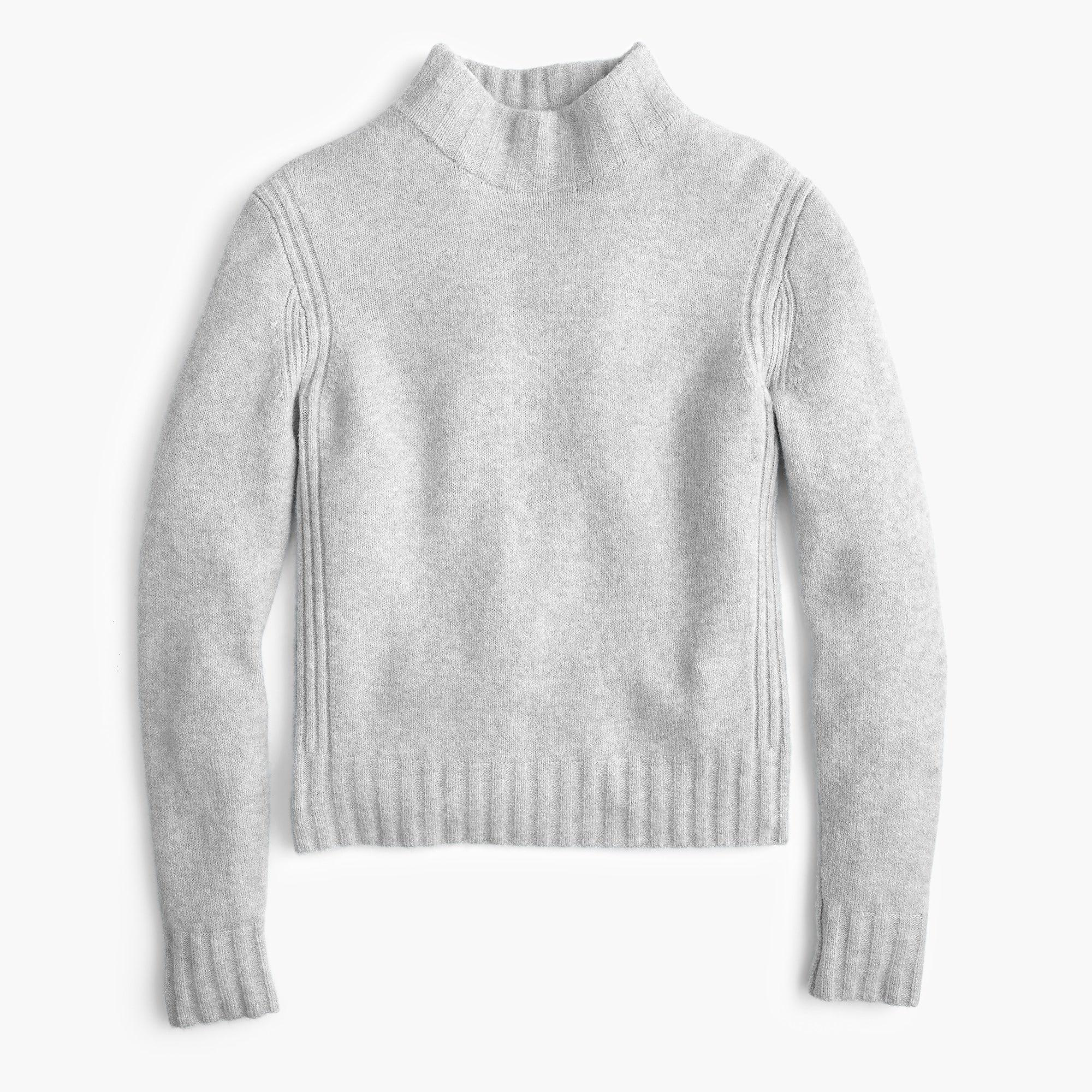 c2083a20542 Lyst - J.Crew Mockneck Sweater In Supersoft Yarn in Gray