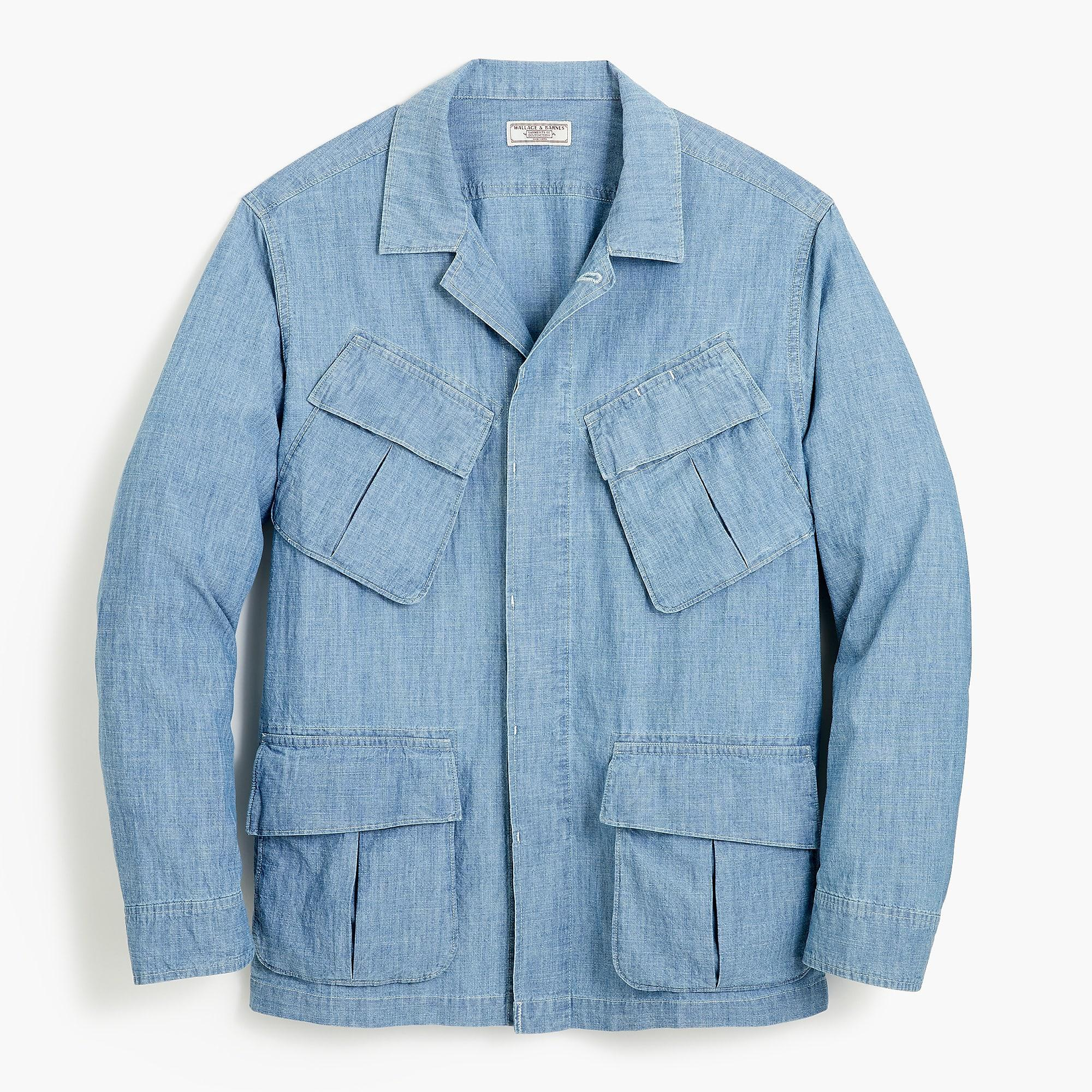 J.Crew Cotton Wallace & Barnes Chore Jacket In Chambray in Indigo (Blue) for Men
