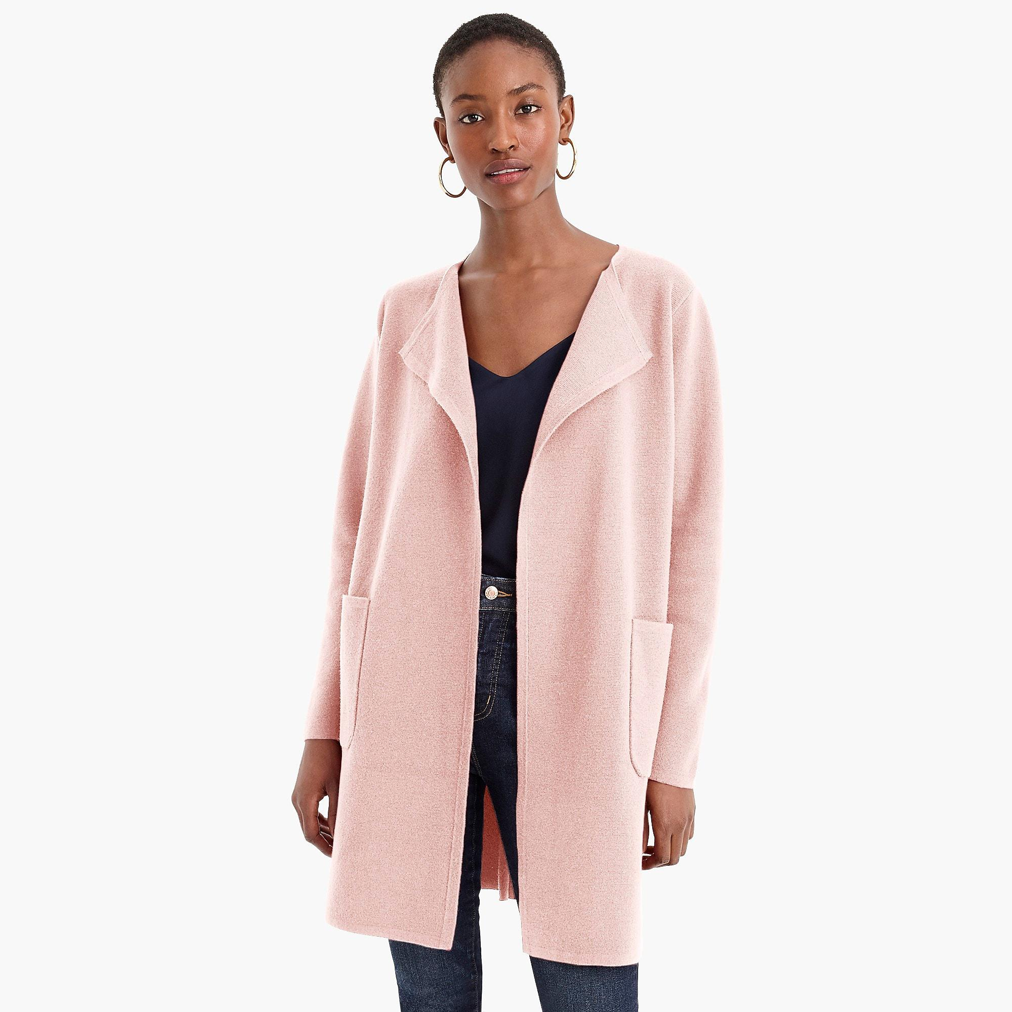aada714f22 Lyst - J.Crew Juliette Collarless Sweater-blazer in Pink