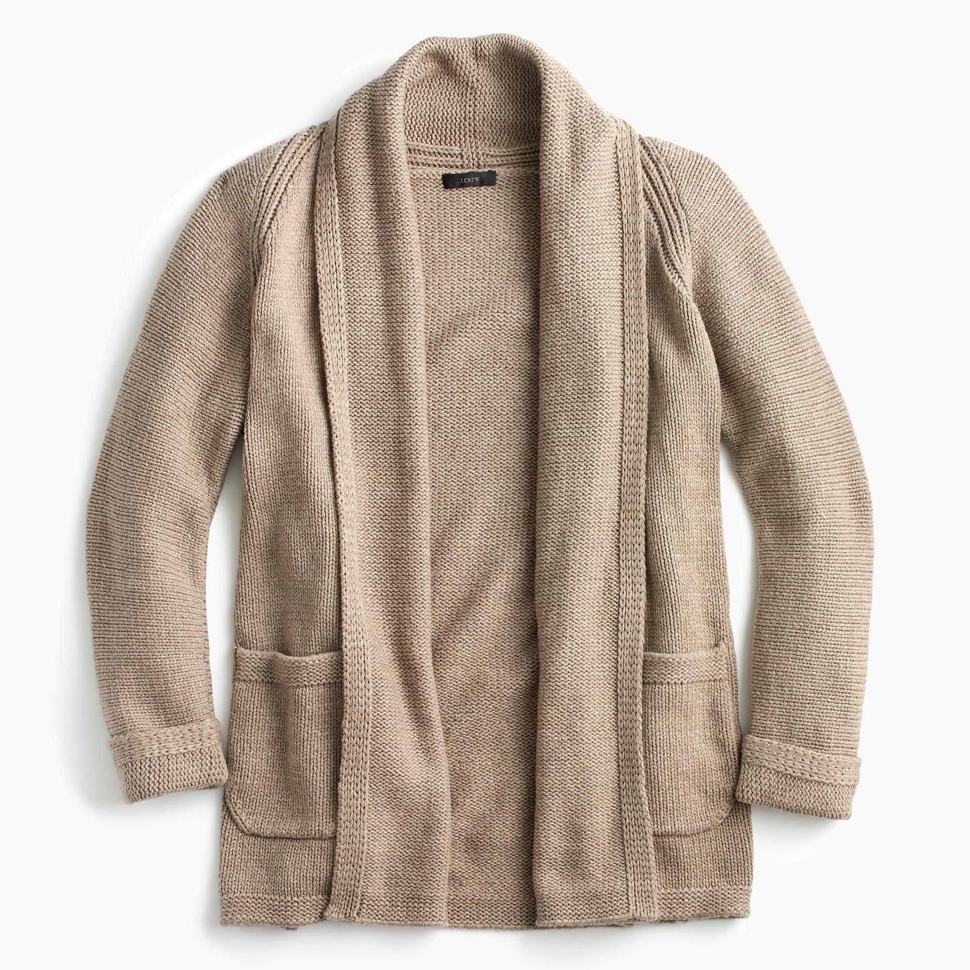 J.crew Long Open Cardigan Sweater | Lyst