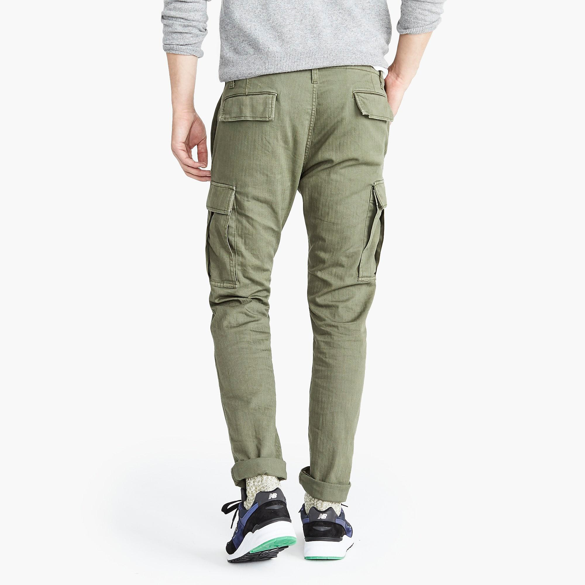 864048503aabf9 J.Crew Slim Fit Cargo Trousers in Green for Men - Lyst