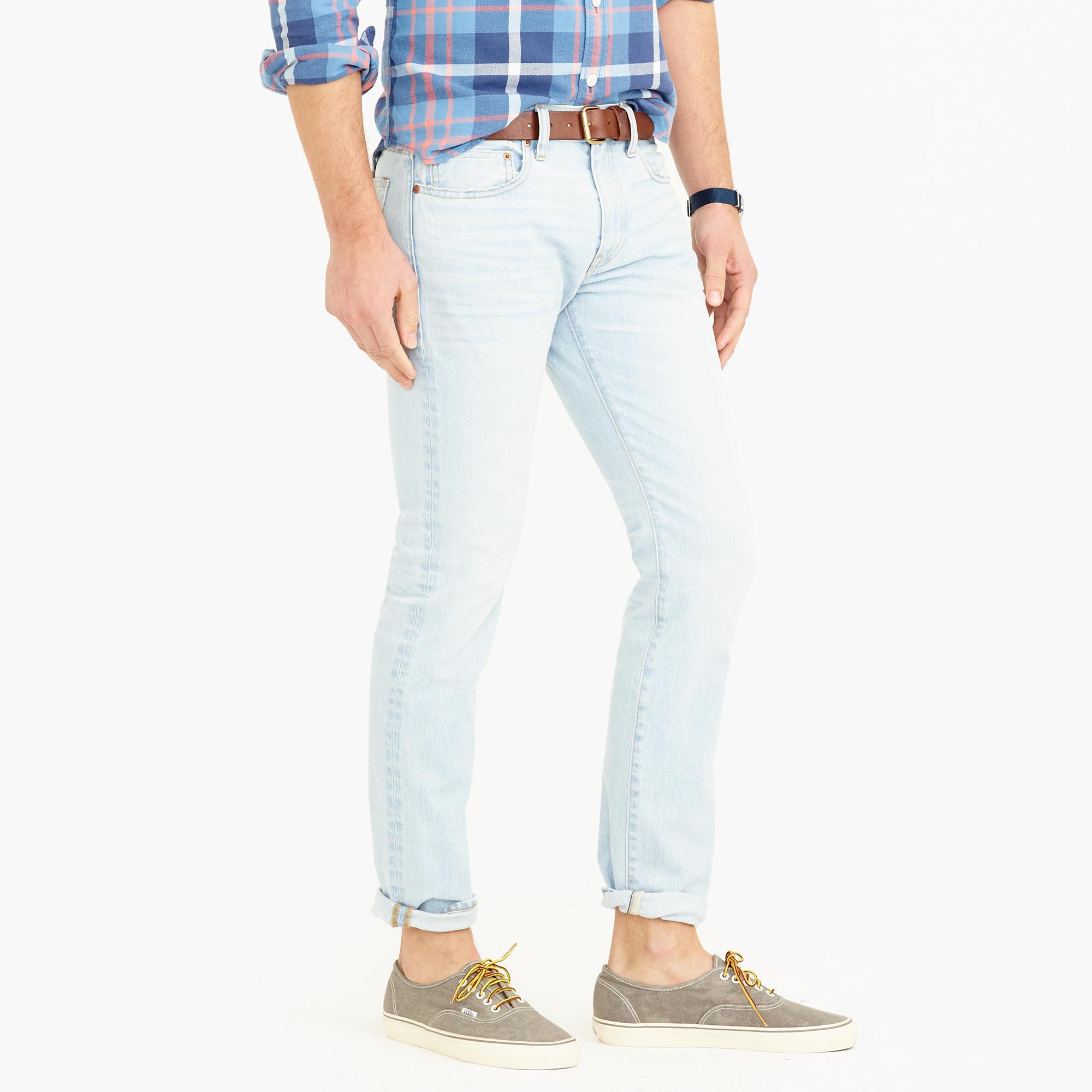 J.Crew Denim 484 Slim Jean In Winslow Wash in Blue for Men