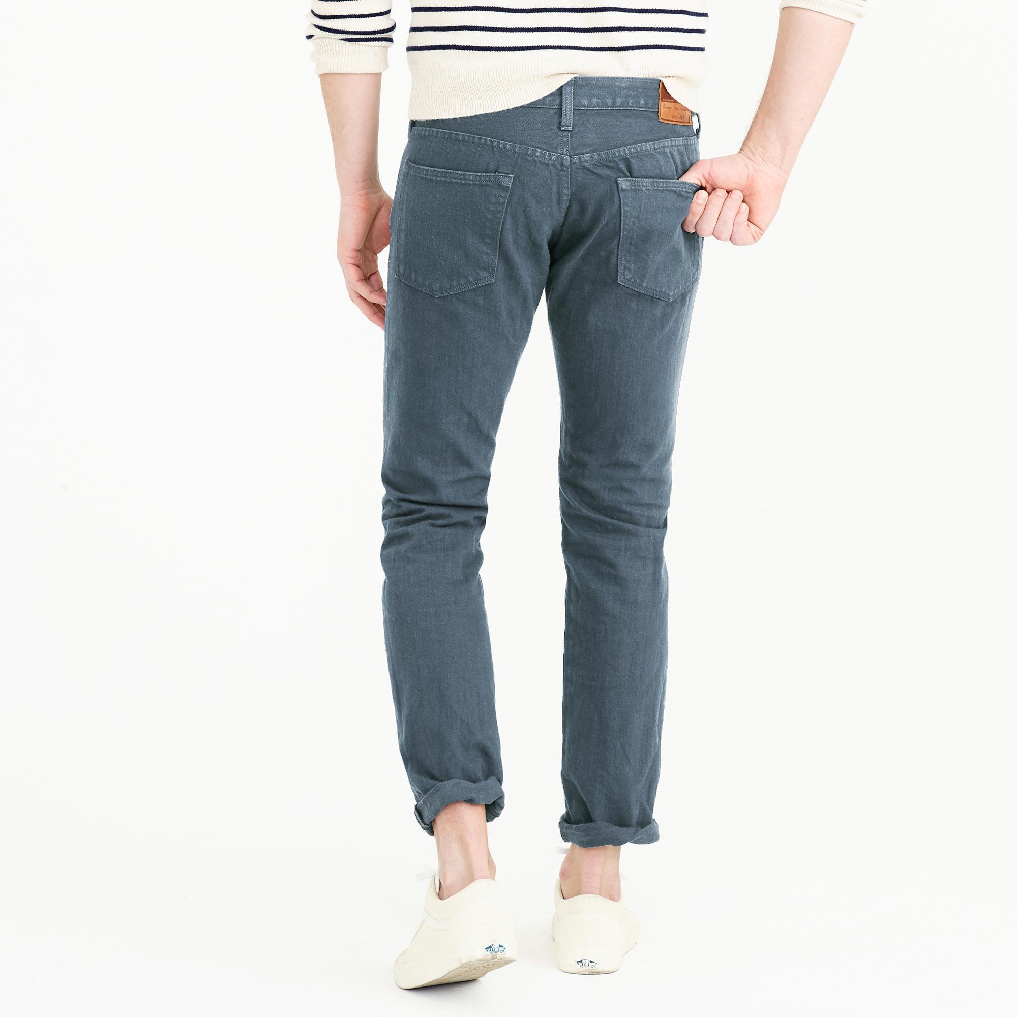 J.Crew 484 Jean In Garment-dyed American Denim in Blue for Men