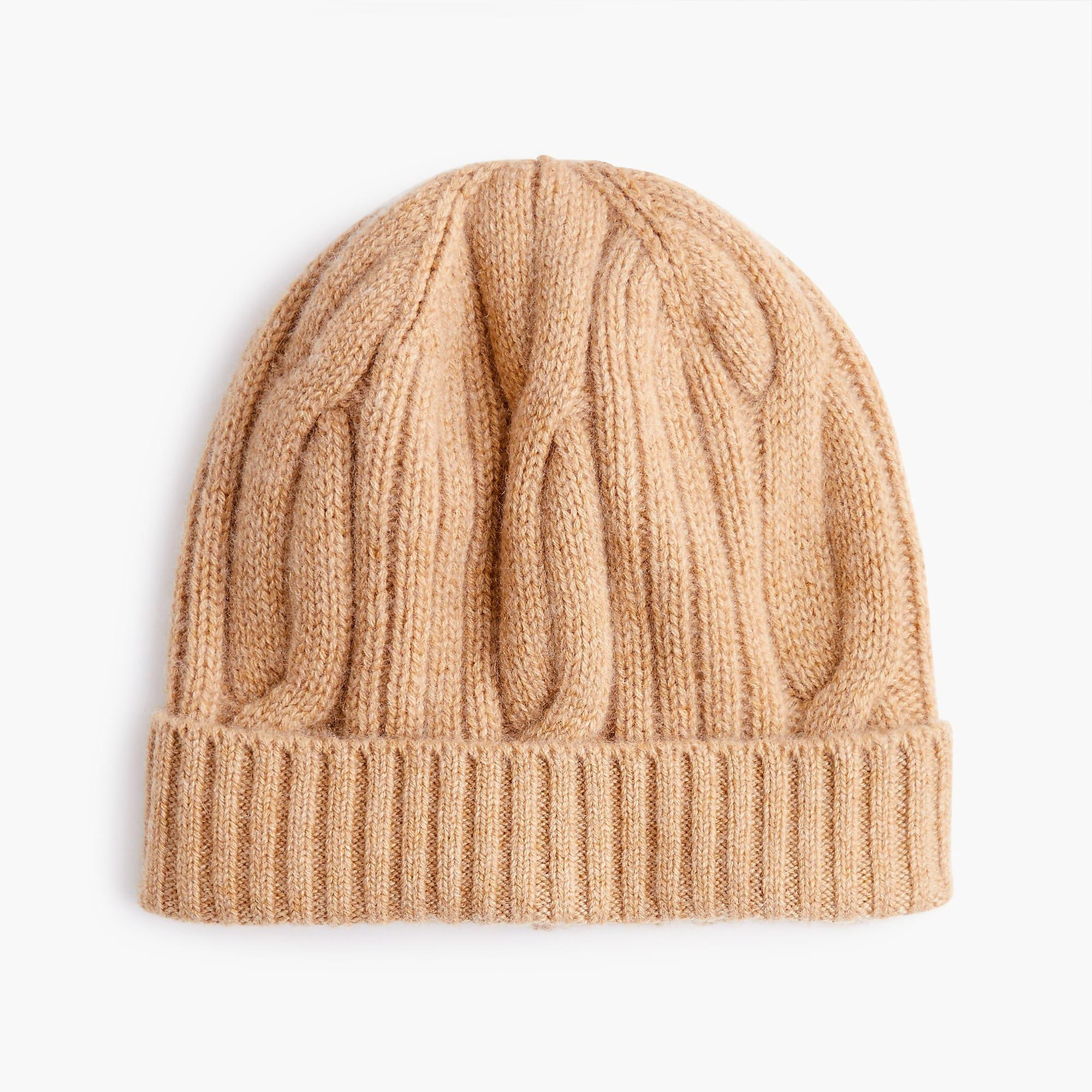f7f1232b58cdc J.Crew Ribbed Cable-knit Beanie In Everyday Cashmere in Natural - Lyst