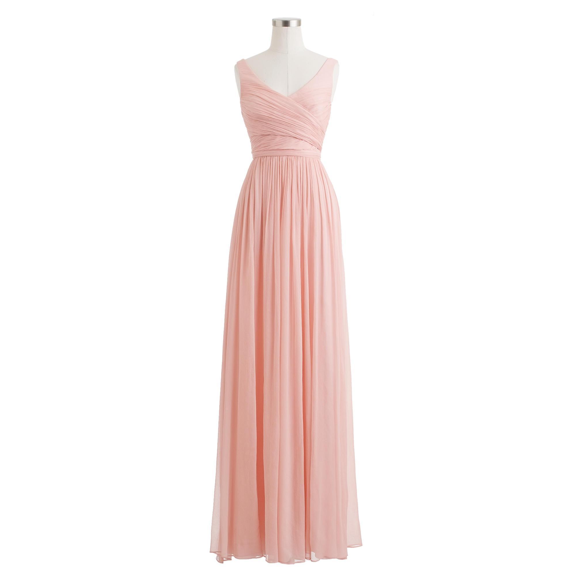 Lyst - J.Crew Heidi Long Dress In Silk Chiffon in Pink