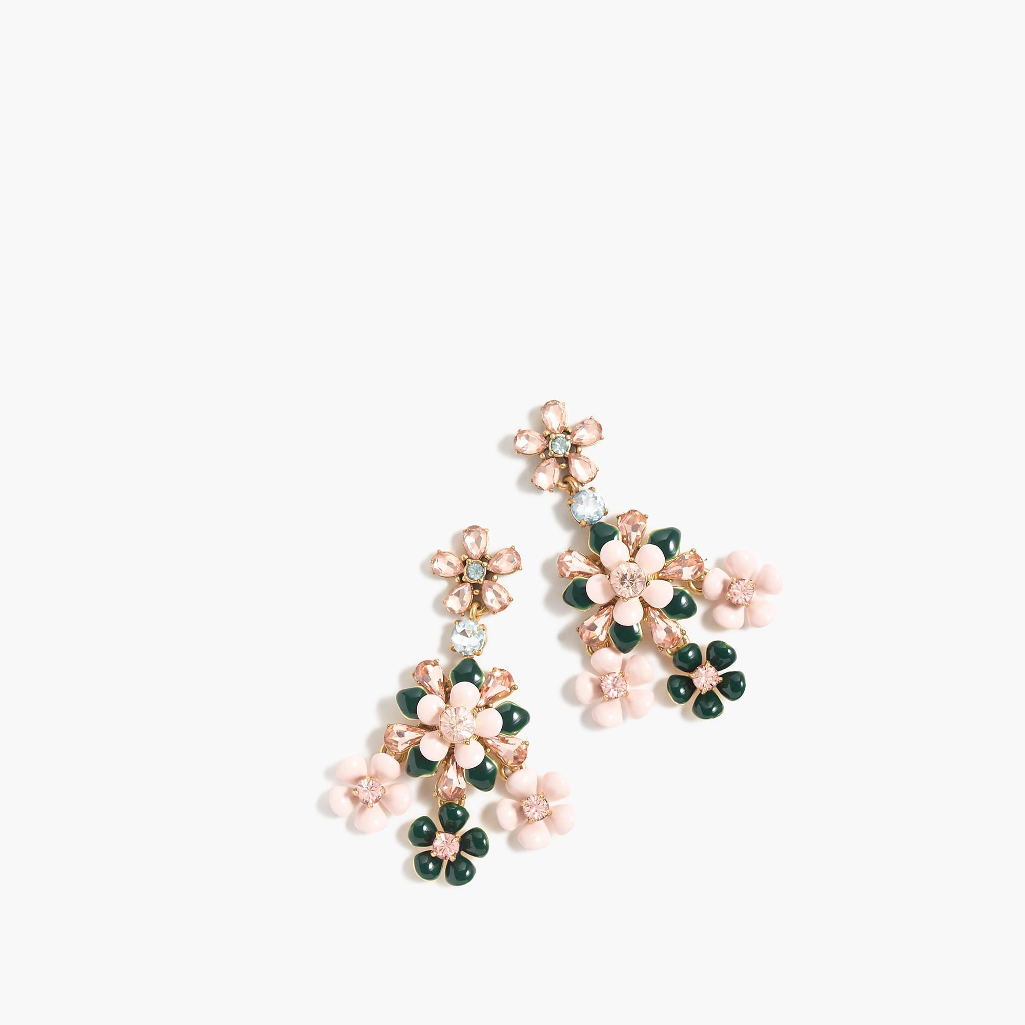 J Crew Floral Chandelier Earrings Lyst