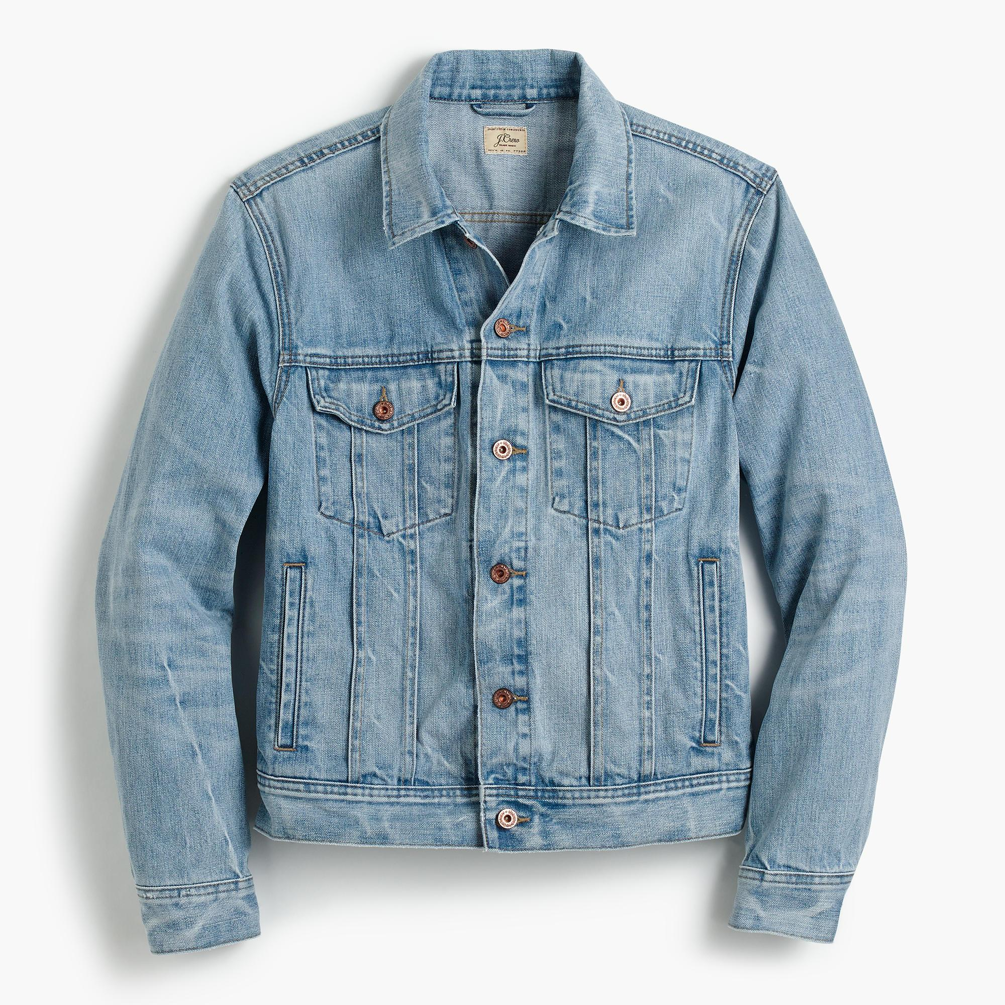 Jcrew Denim Jacket In Light Wash In Blue For Men  Lyst-5949