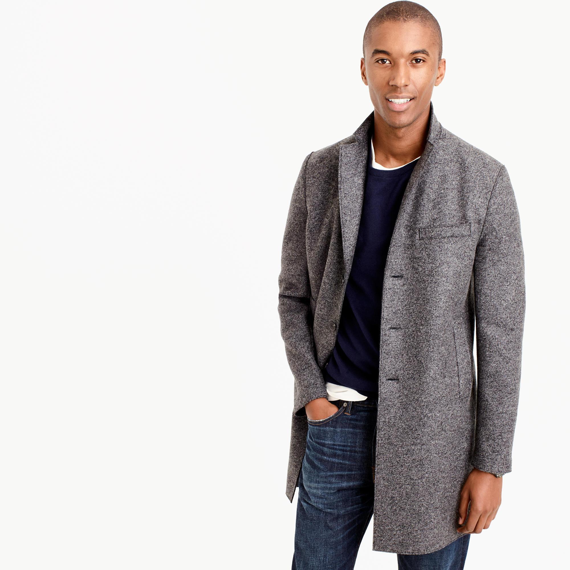 harris wharf london topcoat in pressed wool in multicolor for men lyst. Black Bedroom Furniture Sets. Home Design Ideas