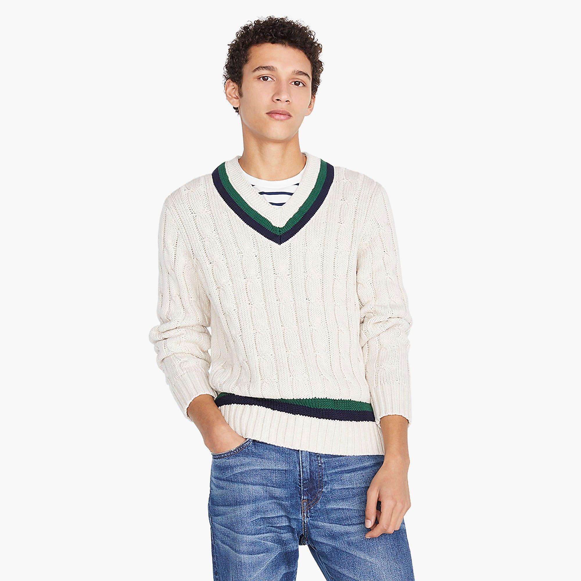 J Crew Always Cotton Tennis Sweater For Men Lyst