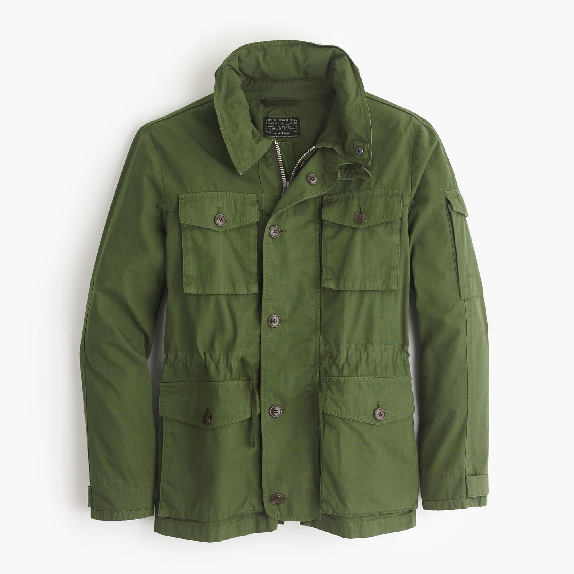 J Crew Field Mechanic Jacket In Green For Men Lyst