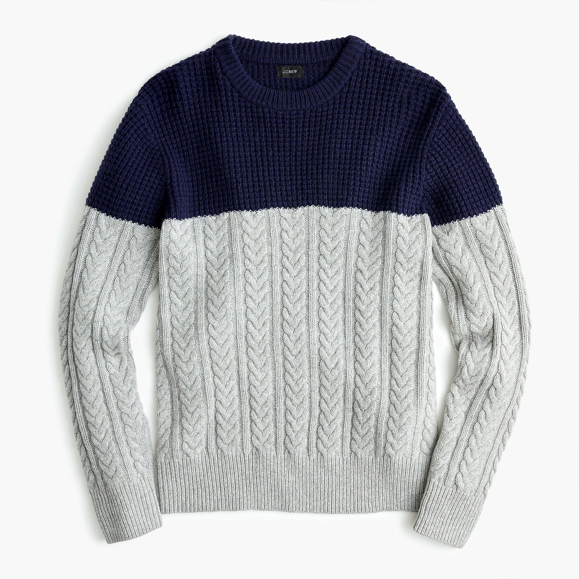 1a8ff1dac J.Crew - Blue Rugged Merino Wool Mixed-knit Crewneck Sweater for Men -.  View fullscreen