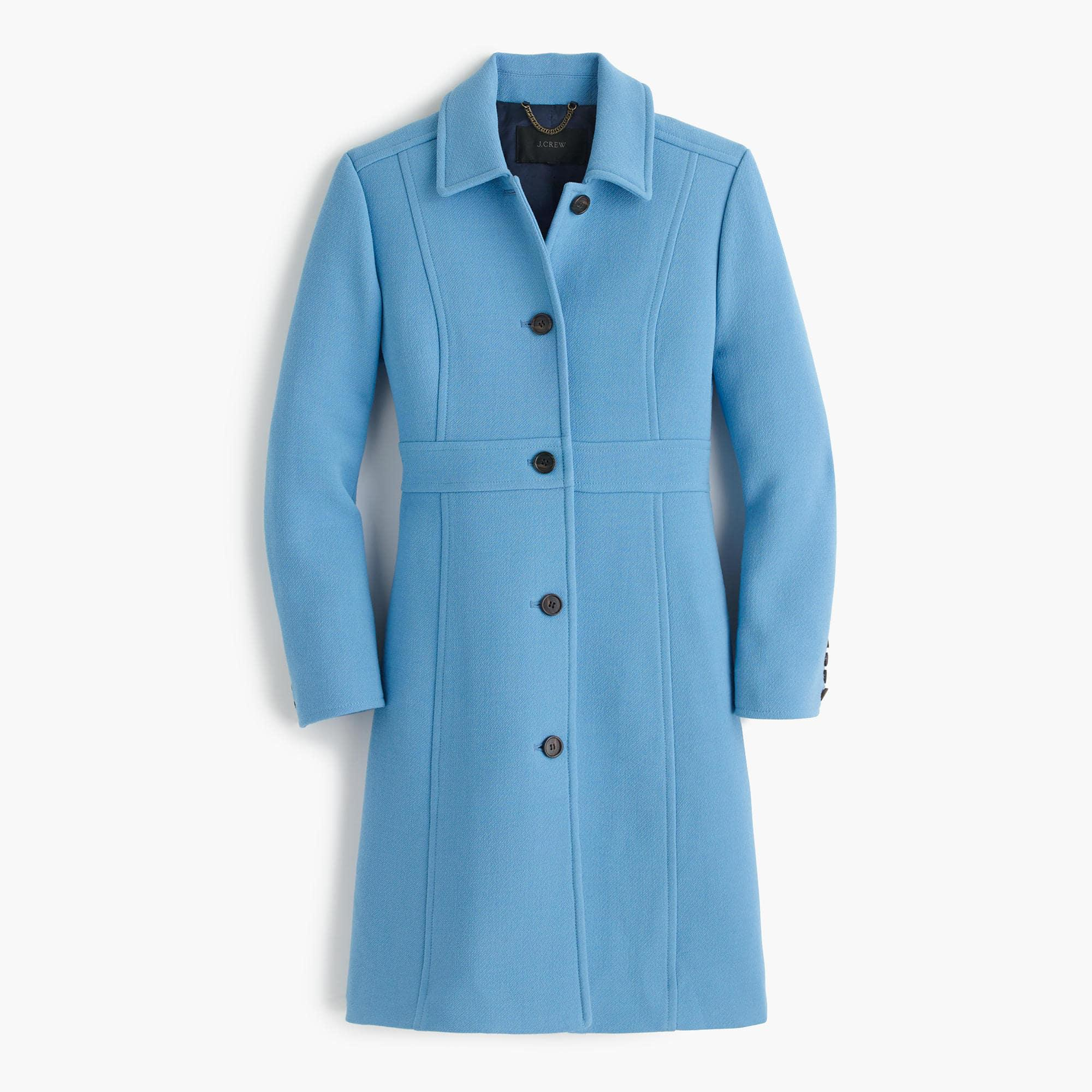 Lyst J Crew Italian Double Cloth Wool Lady Day Coat With
