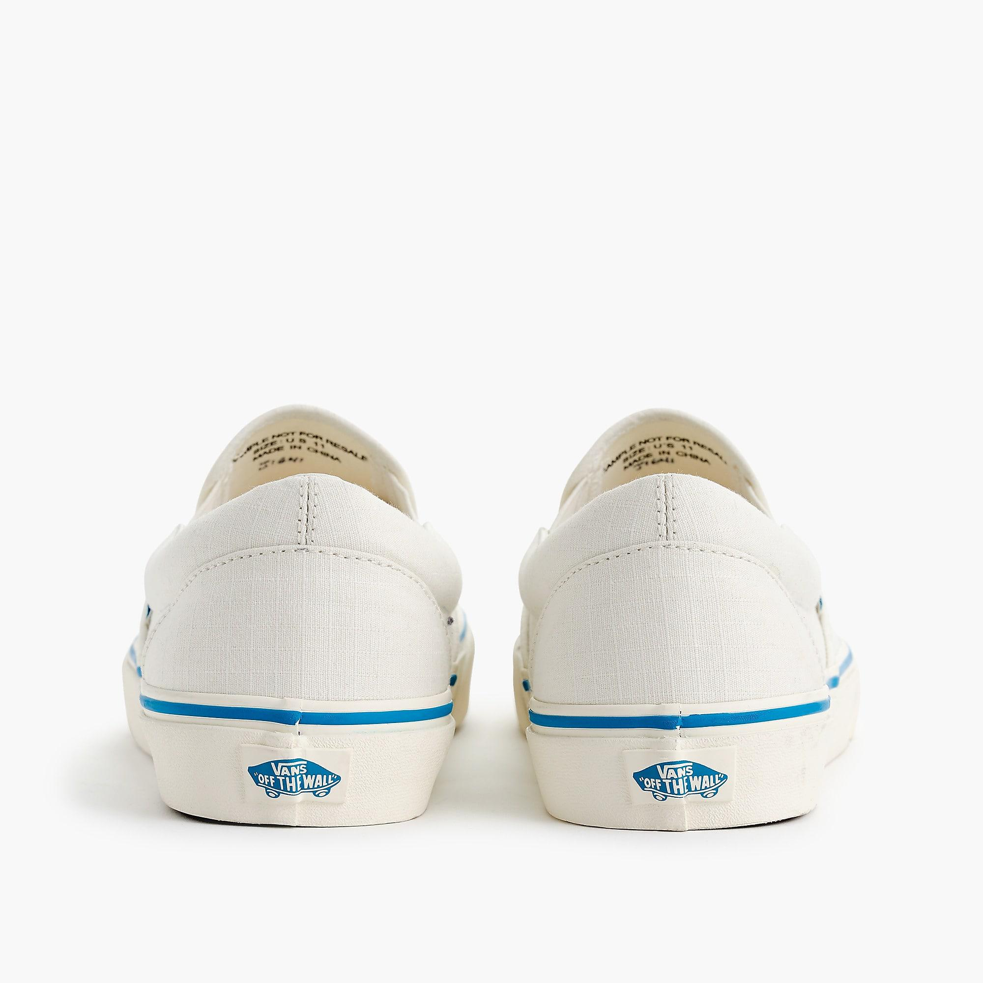 3ba15bbe50d Vans White Slip-on Sneakers In Ripstop Cotton for men