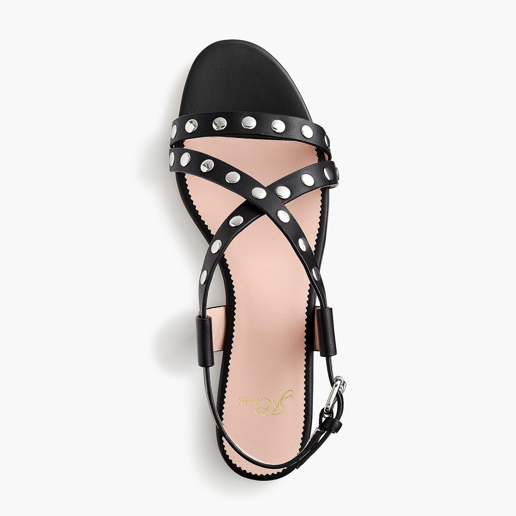 454a207b354 Lyst - J.Crew Strappy Buckled Cora Sandals With Studs in Black