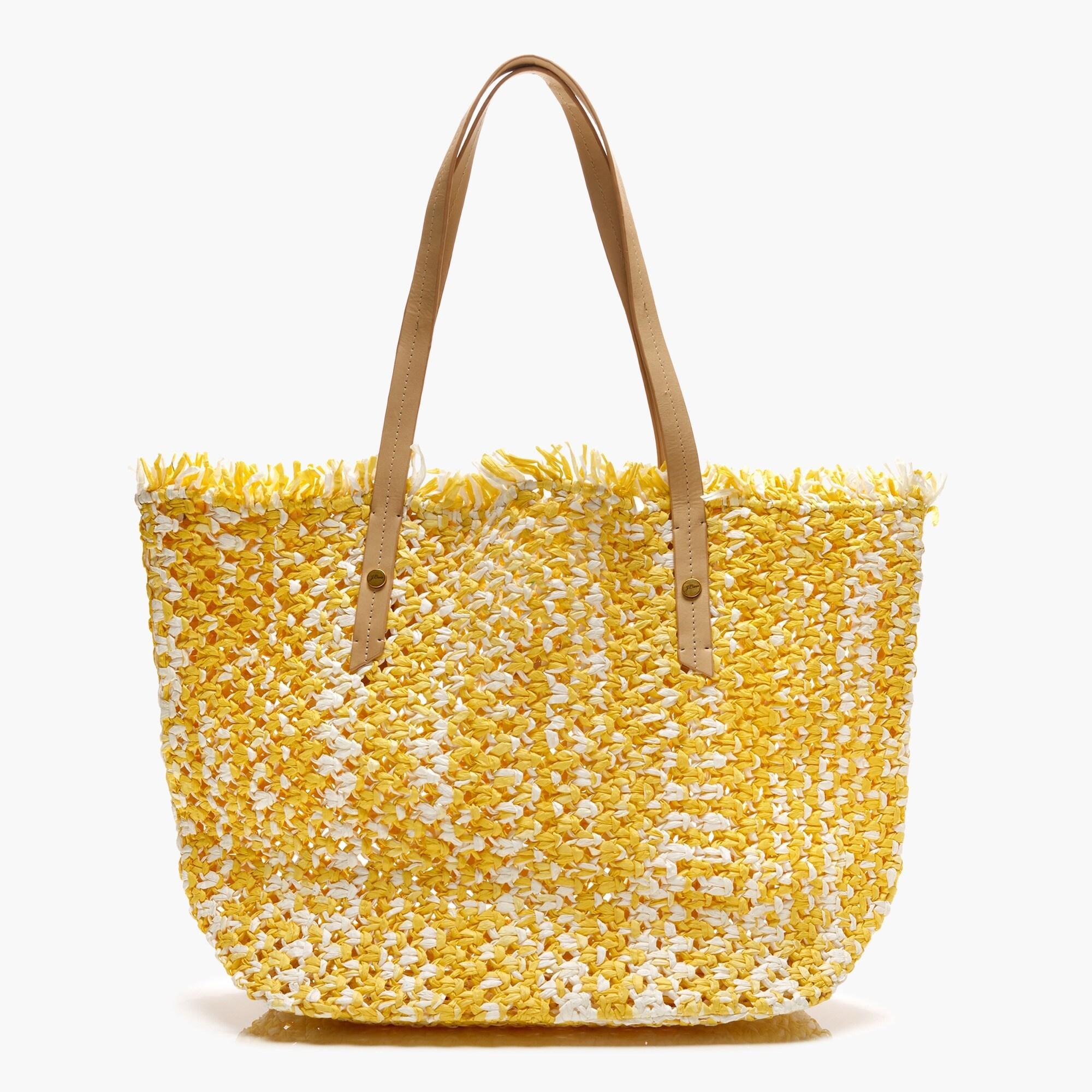 Yellow Macrame Woven Market Bag